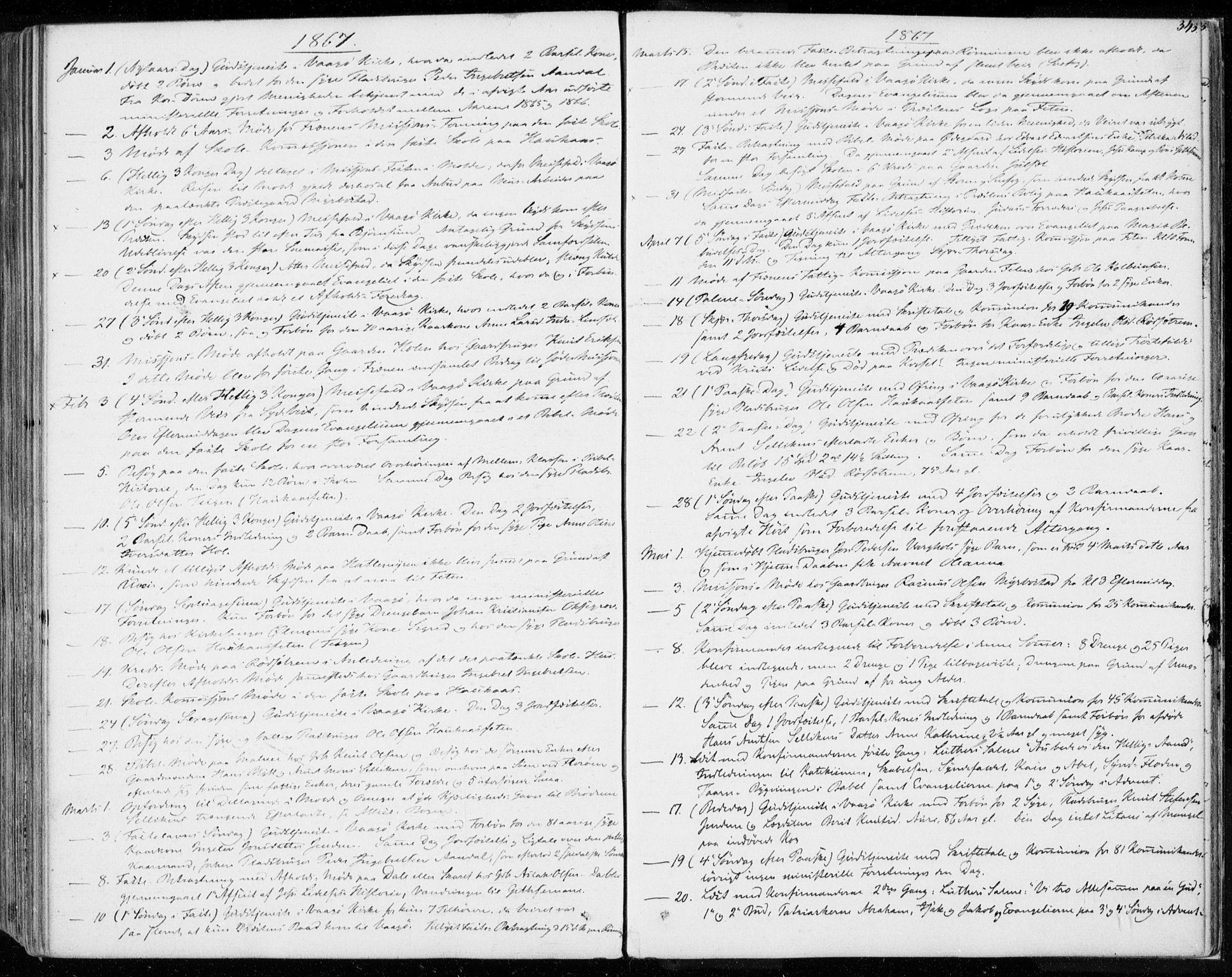 SAT, Ministerialprotokoller, klokkerbøker og fødselsregistre - Møre og Romsdal, 565/L0748: Ministerialbok nr. 565A02, 1845-1872, s. 343