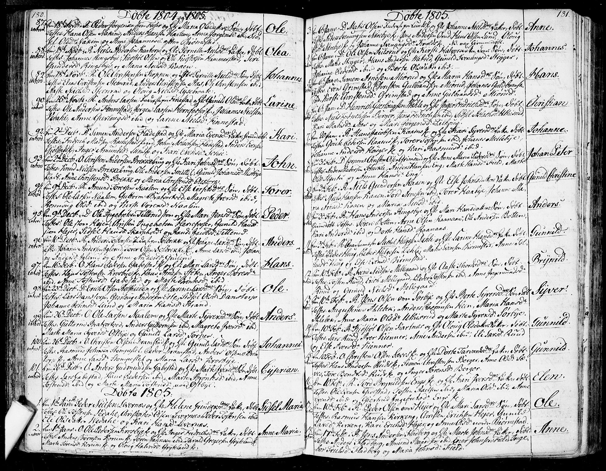 SAO, Rakkestad prestekontor Kirkebøker, F/Fa/L0005: Ministerialbok nr. I 5, 1784-1814, s. 180-181