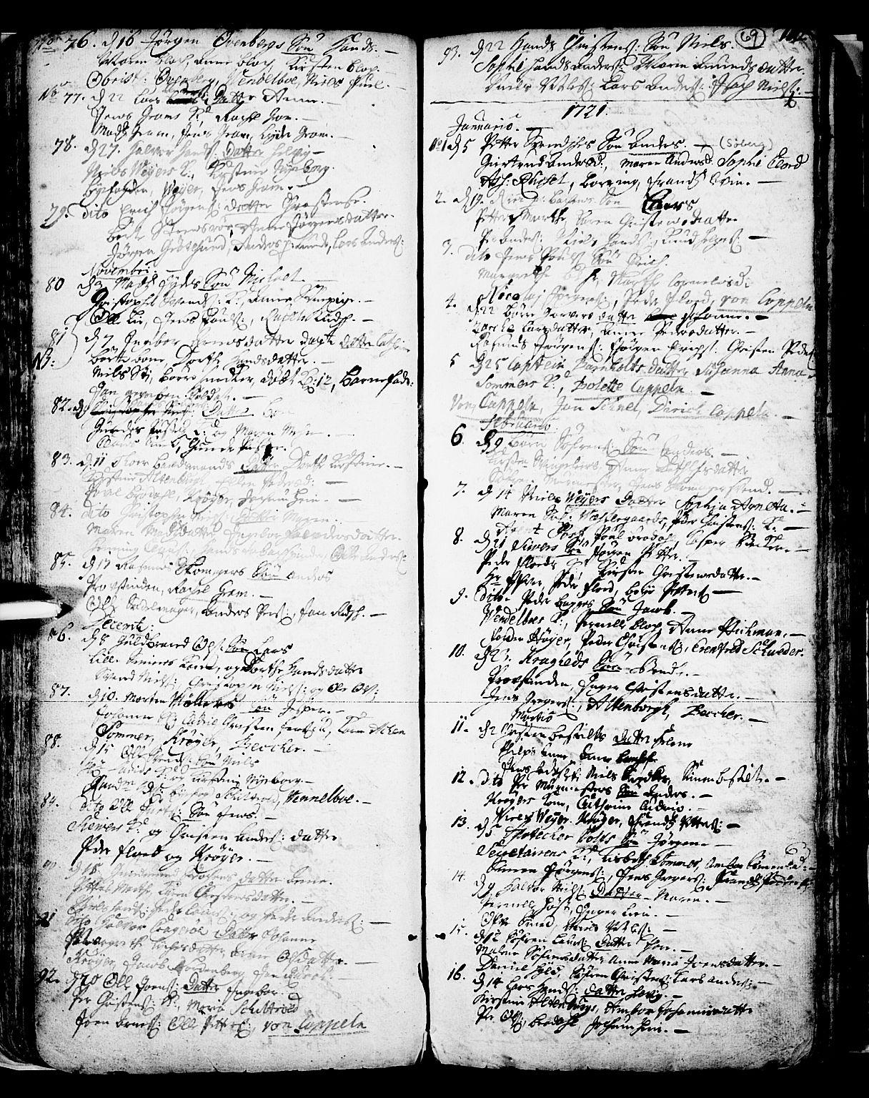 SAKO, Skien kirkebøker, F/Fa/L0002: Ministerialbok nr. 2, 1716-1757, s. 69