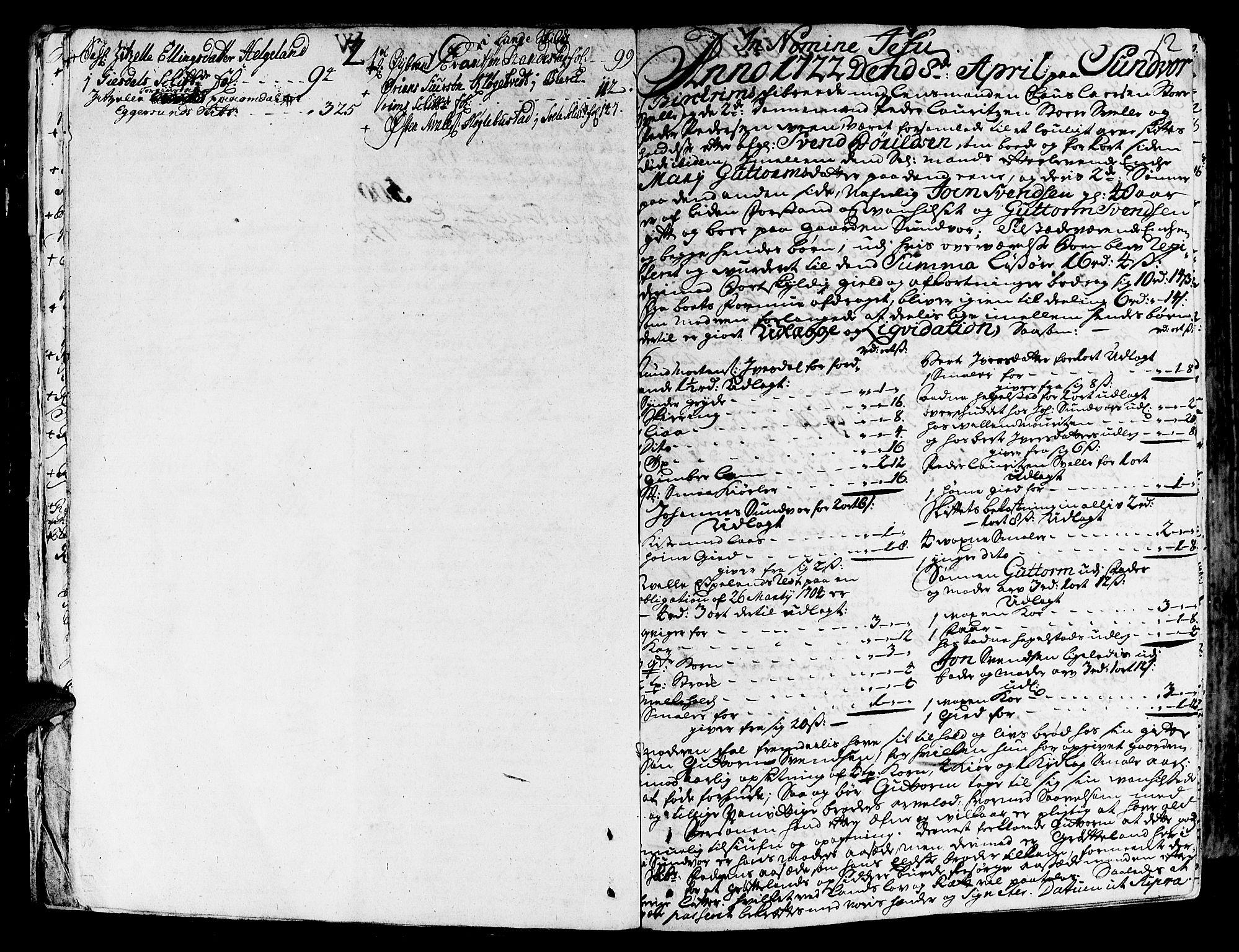 SAST, Jæren og Dalane sorenskriveri, 5/50BA/L0006B: SKIFTEPROTOKOLL, 1722-1739, s. 11b-12a