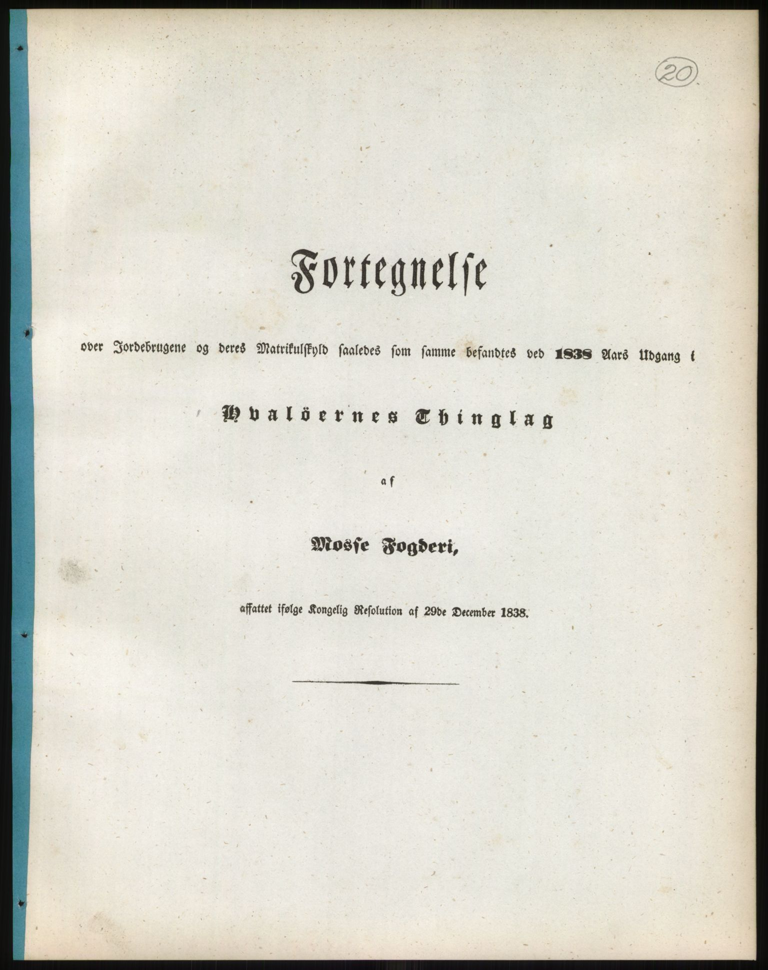 RA, 1838-matrikkelen (publikasjon)*, 1838, s. 20