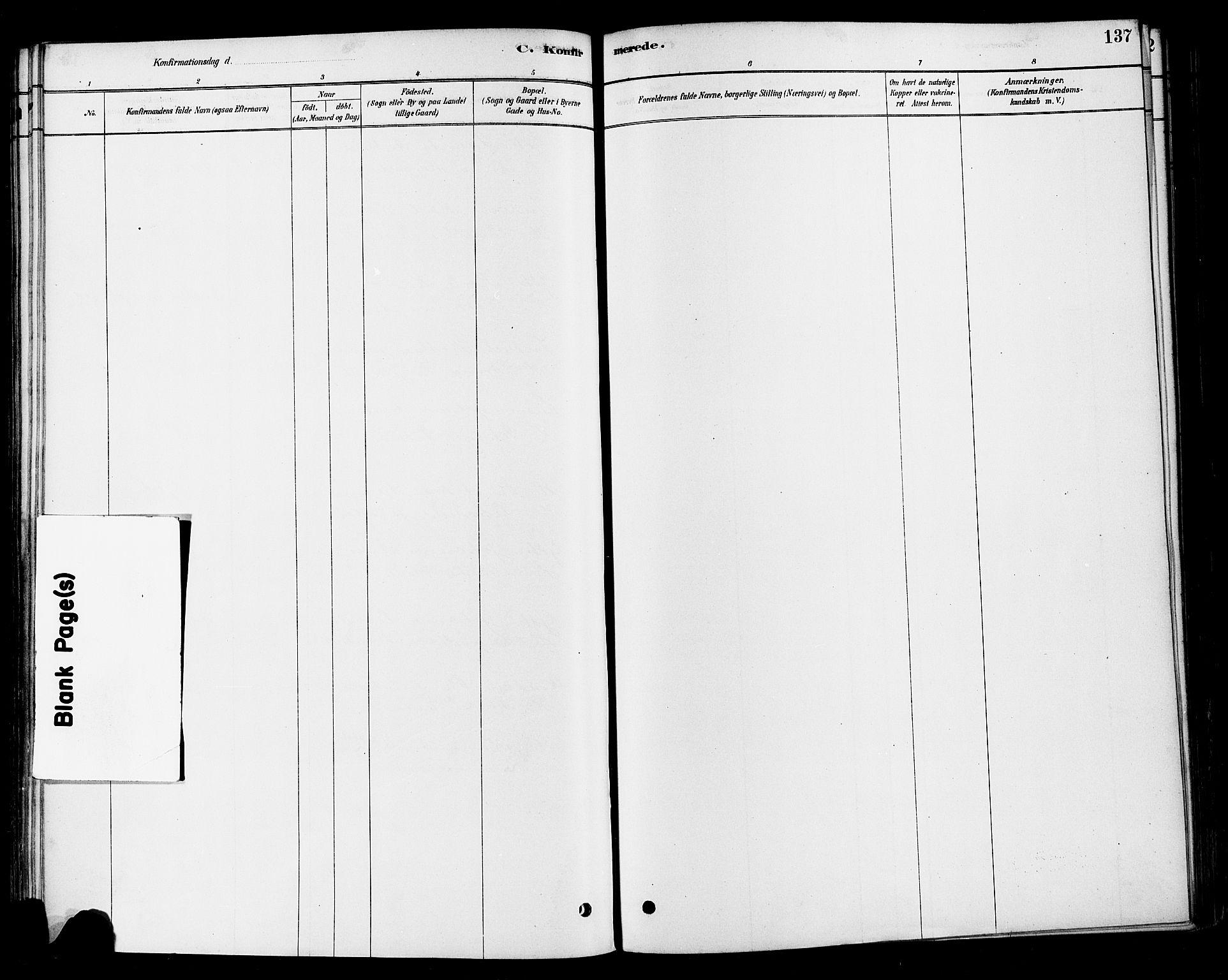 SAH, Vestre Toten prestekontor, Ministerialbok nr. 10, 1878-1894, s. 137