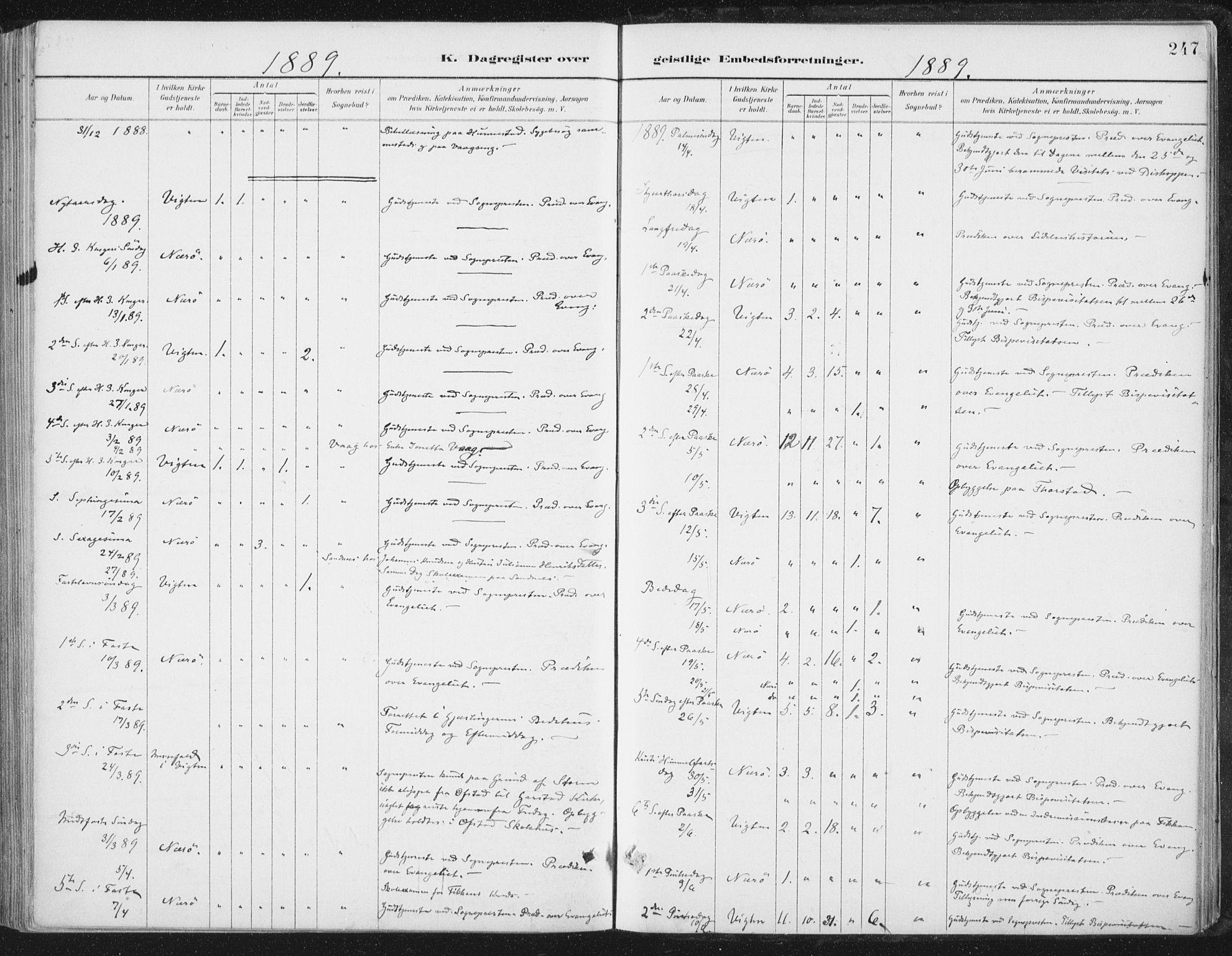 SAT, Ministerialprotokoller, klokkerbøker og fødselsregistre - Nord-Trøndelag, 784/L0673: Ministerialbok nr. 784A08, 1888-1899, s. 247