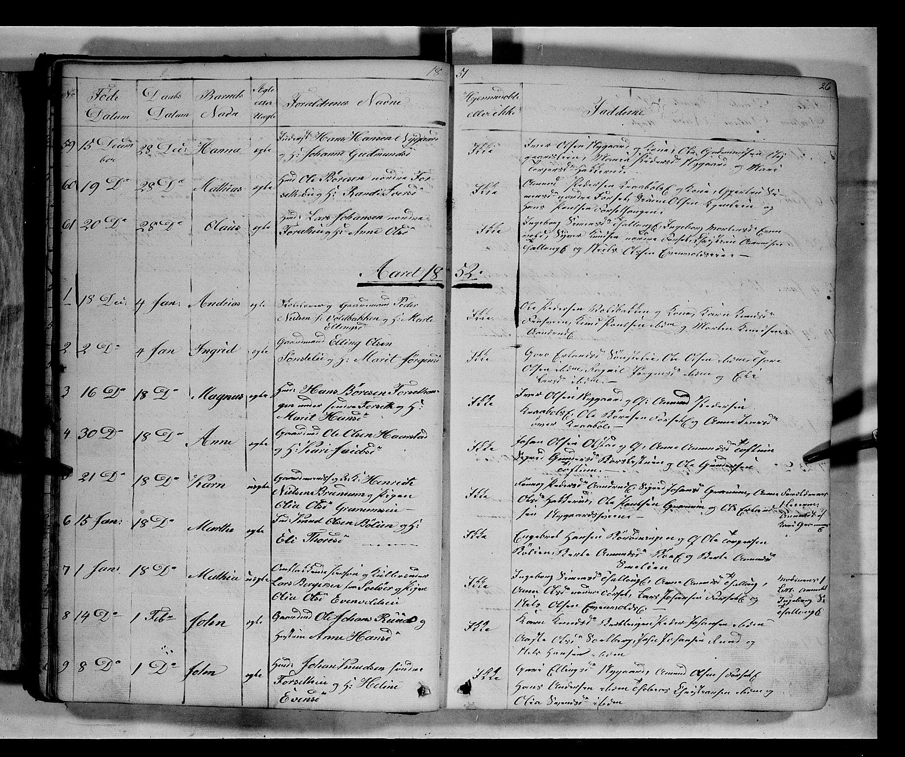 SAH, Gausdal prestekontor, Klokkerbok nr. 5, 1846-1867, s. 26
