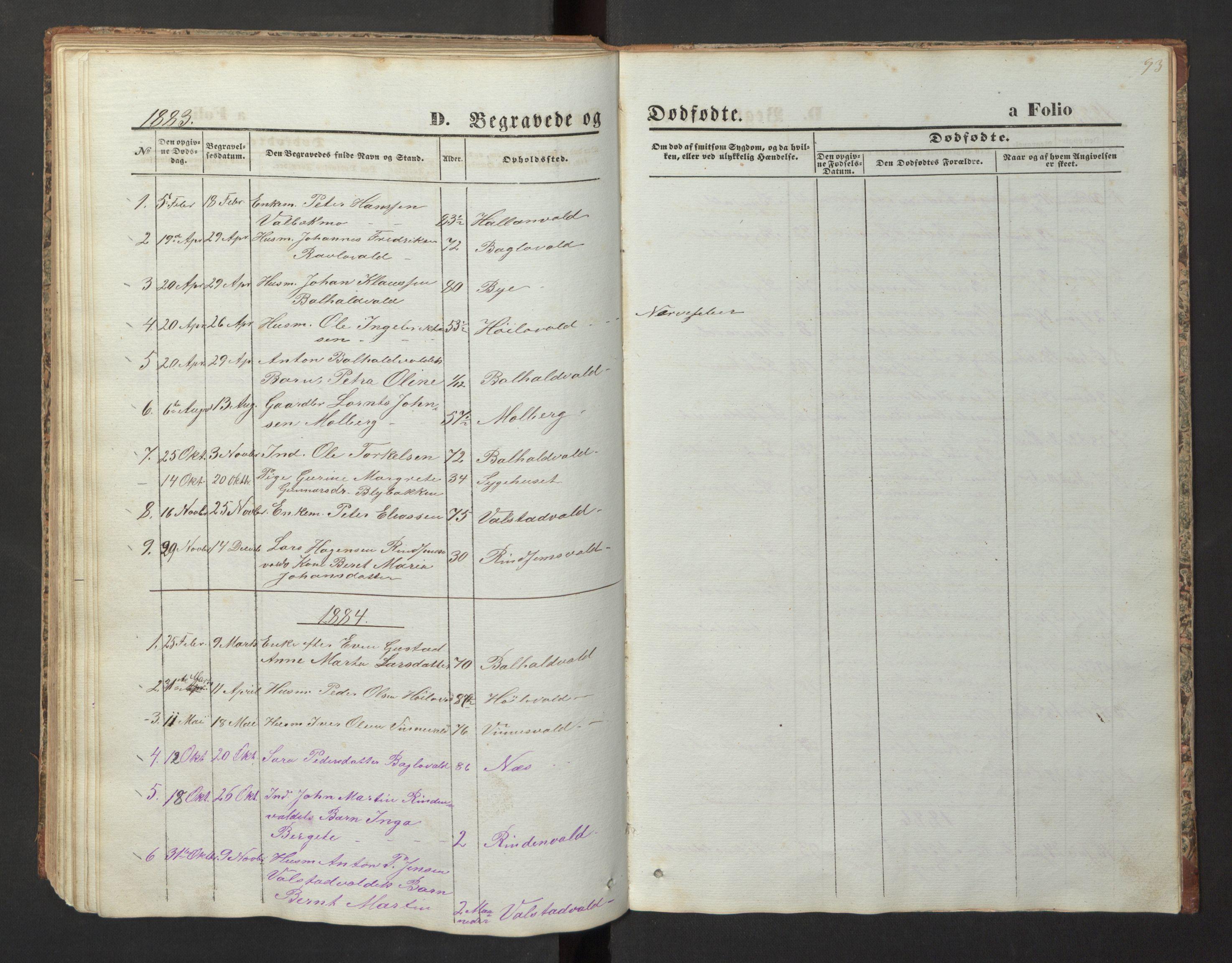 SAT, Ministerialprotokoller, klokkerbøker og fødselsregistre - Nord-Trøndelag, 726/L0271: Klokkerbok nr. 726C02, 1869-1897, s. 93