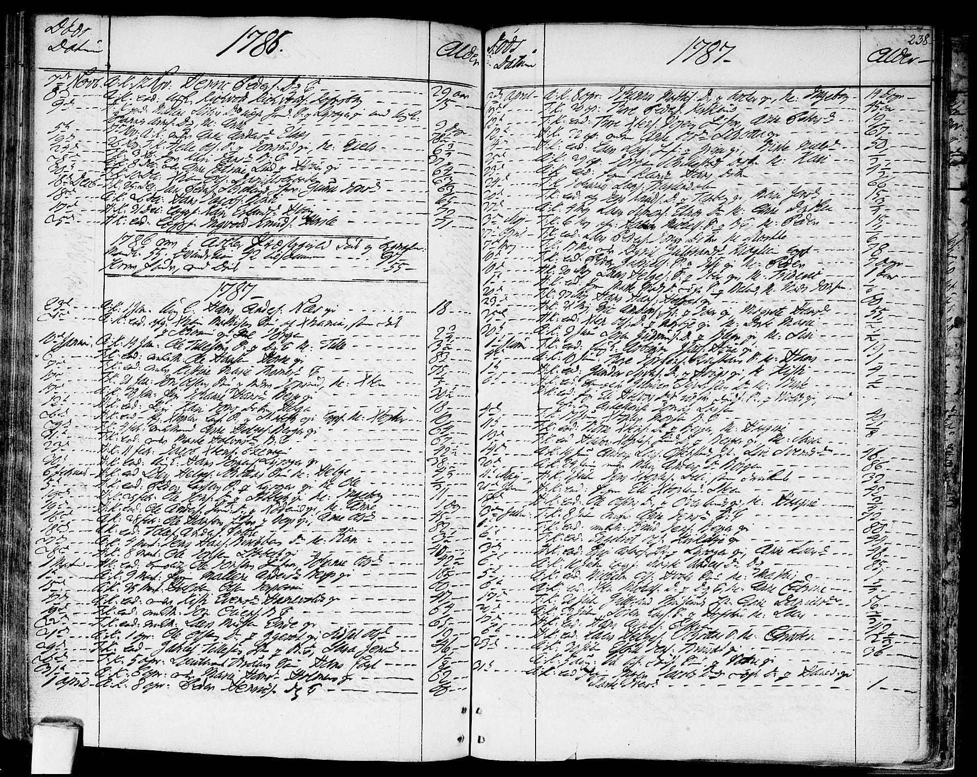 SAO, Asker prestekontor Kirkebøker, F/Fa/L0003: Ministerialbok nr. I 3, 1767-1807, s. 238