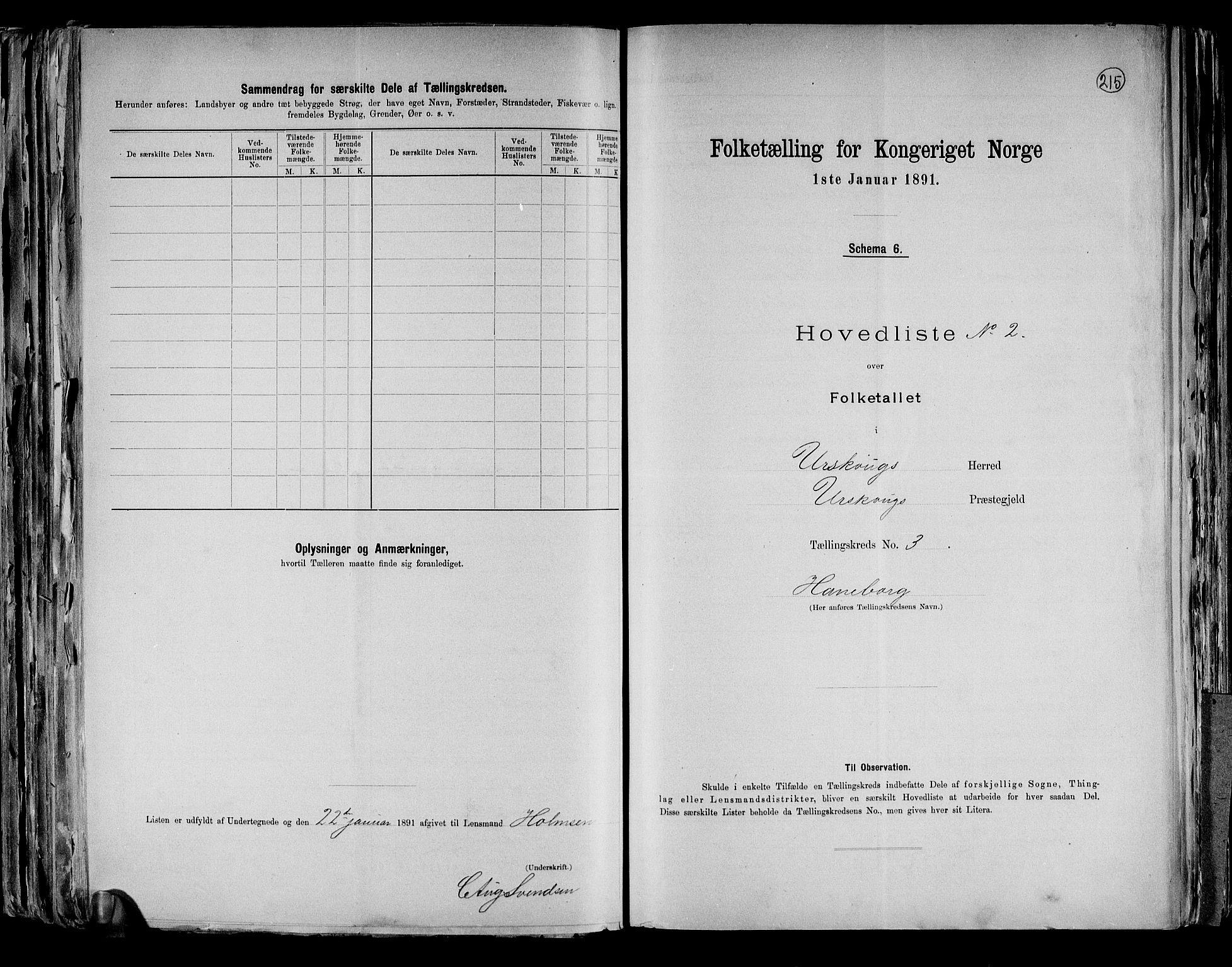 RA, Folketelling 1891 for 0224 Aurskog herred, 1891, s. 12