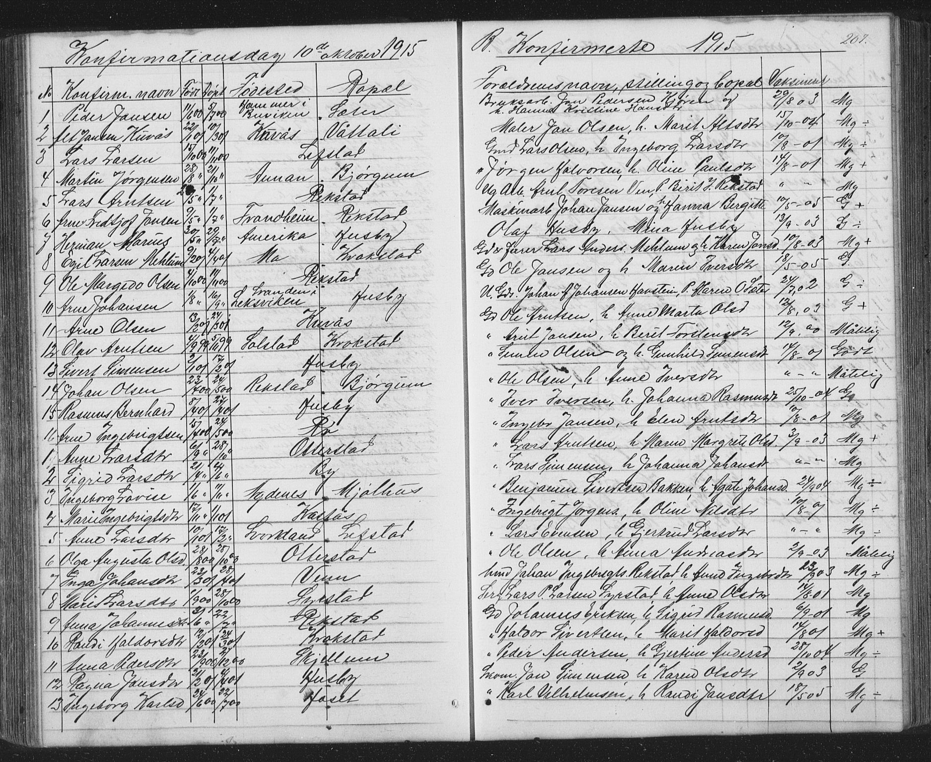 SAT, Ministerialprotokoller, klokkerbøker og fødselsregistre - Sør-Trøndelag, 667/L0798: Klokkerbok nr. 667C03, 1867-1929, s. 207