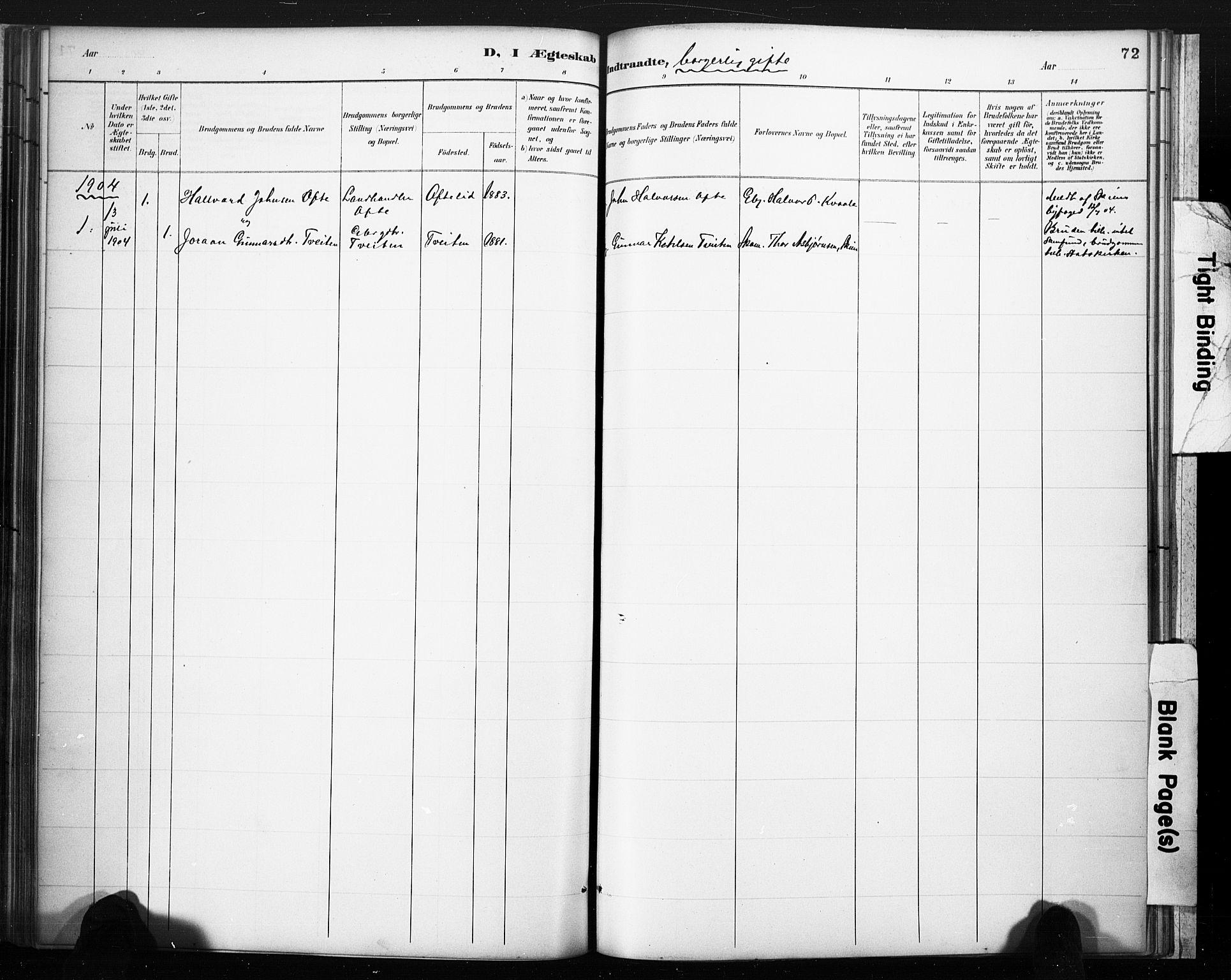 SAKO, Lårdal kirkebøker, F/Fc/L0002: Ministerialbok nr. III 2, 1887-1906, s. 72