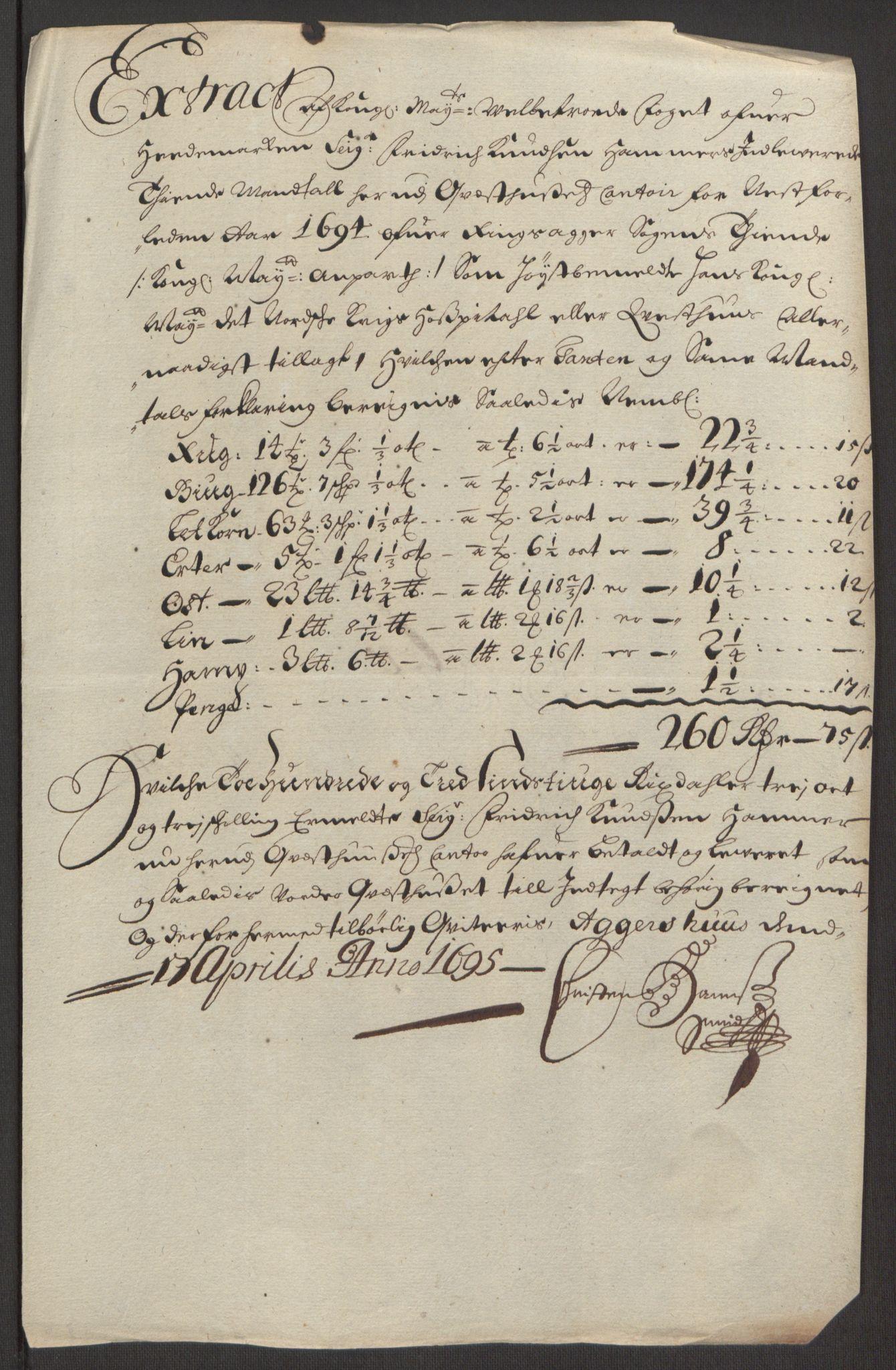 RA, Rentekammeret inntil 1814, Reviderte regnskaper, Fogderegnskap, R16/L1035: Fogderegnskap Hedmark, 1694, s. 196