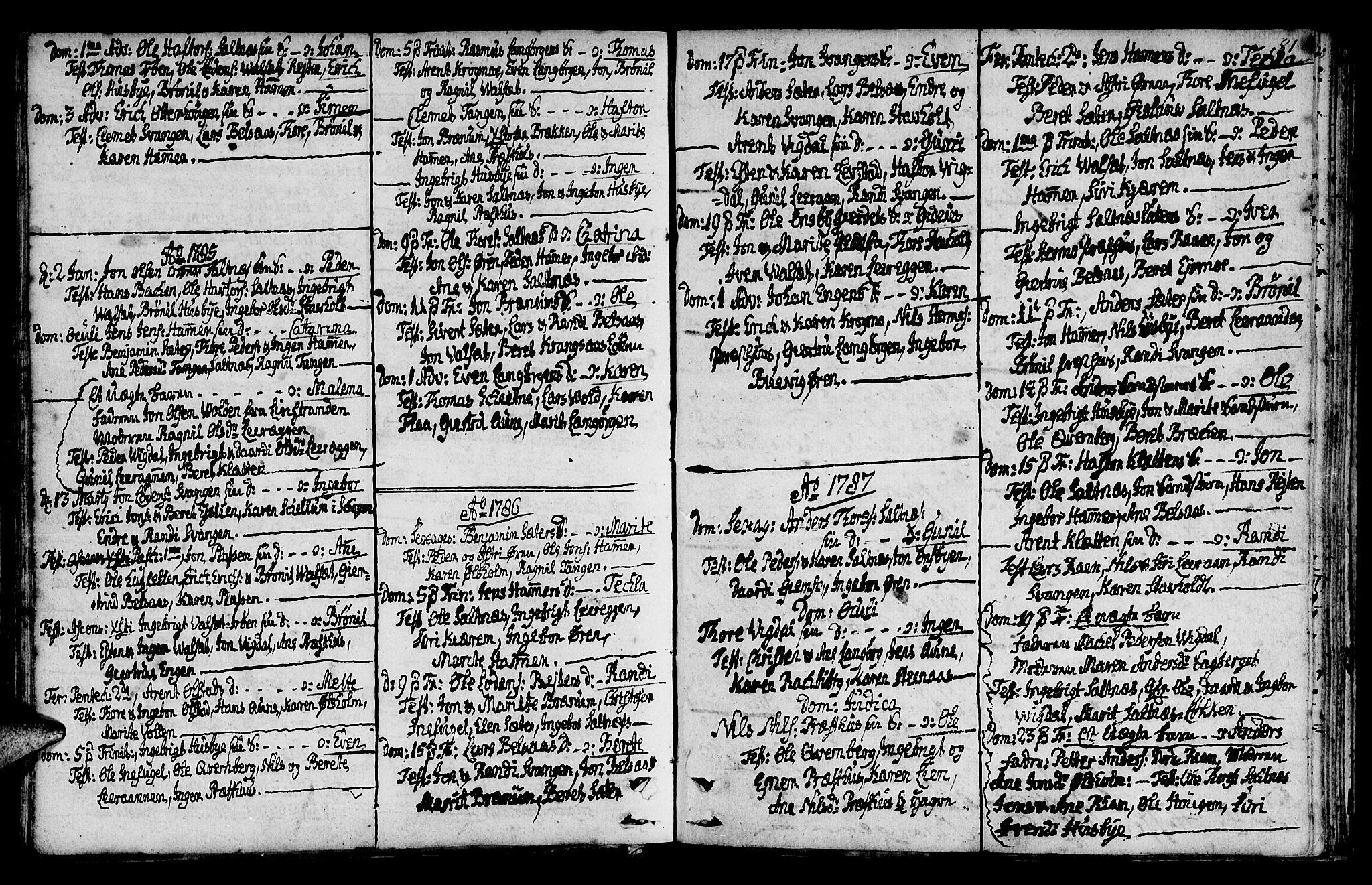 SAT, Ministerialprotokoller, klokkerbøker og fødselsregistre - Sør-Trøndelag, 666/L0784: Ministerialbok nr. 666A02, 1754-1802, s. 81