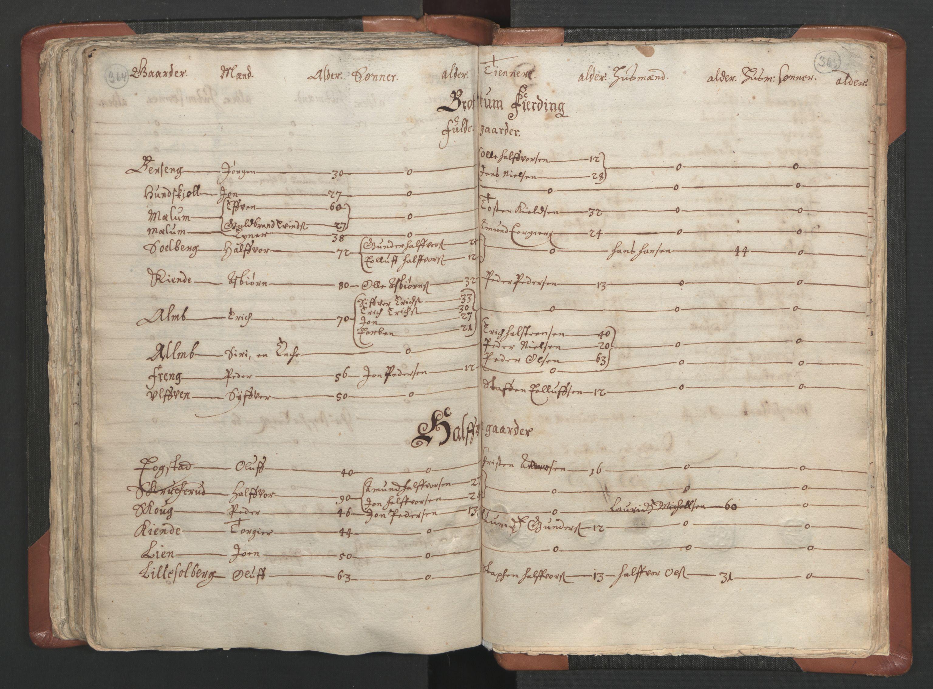 RA, Sogneprestenes manntall 1664-1666, nr. 5: Hedmark prosti, 1664-1666, s. 364-365