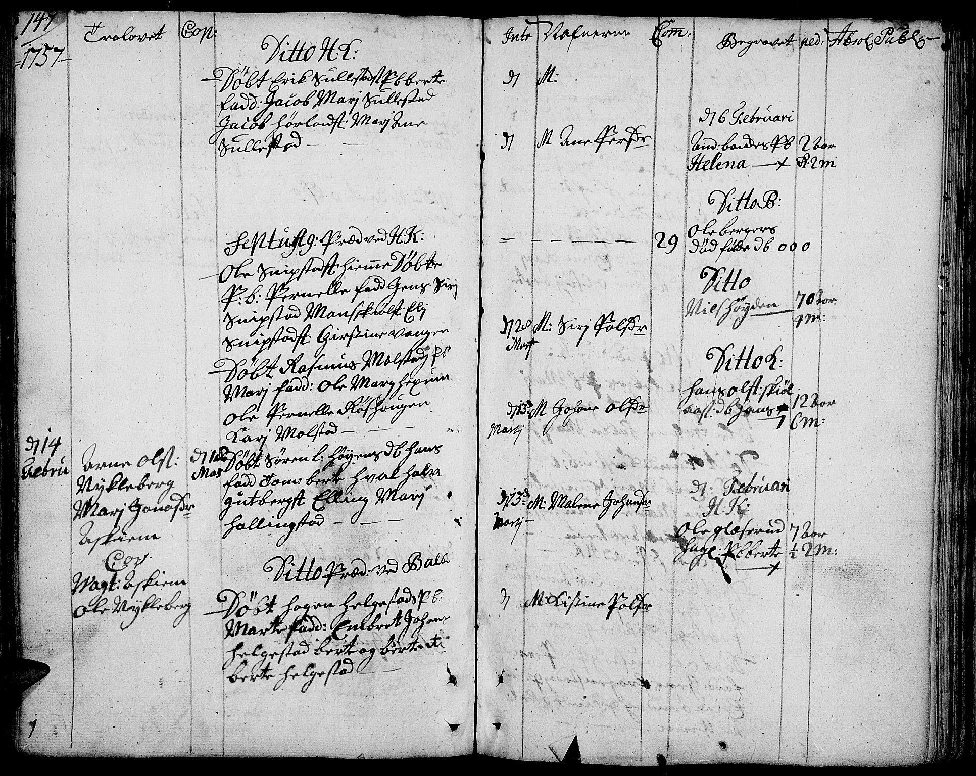 SAH, Toten prestekontor, Ministerialbok nr. 4, 1751-1761, s. 147