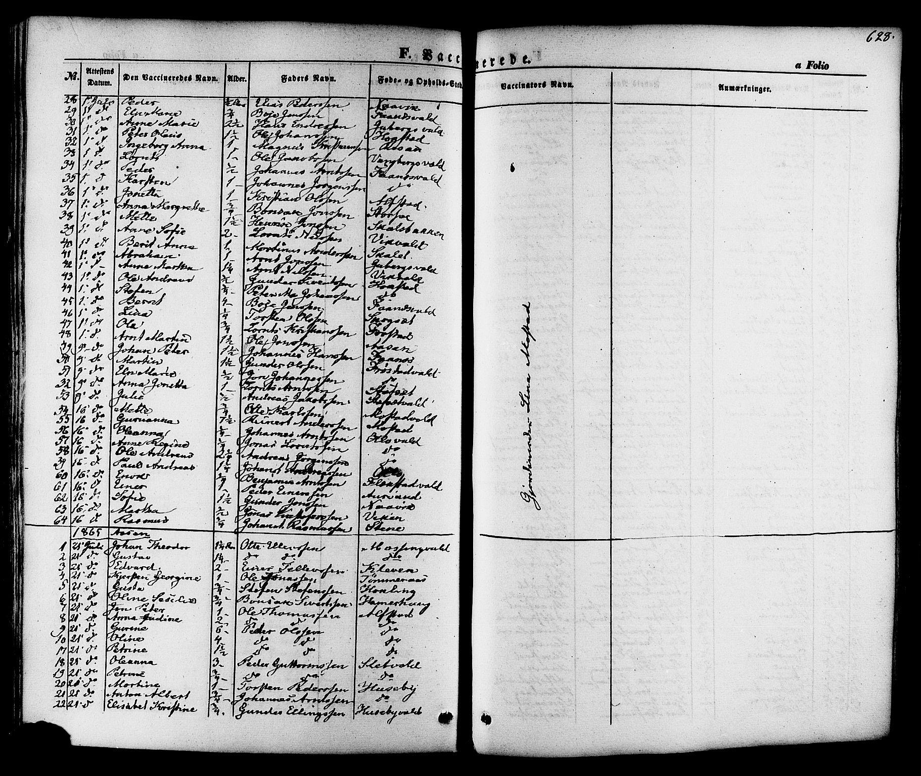 SAT, Ministerialprotokoller, klokkerbøker og fødselsregistre - Nord-Trøndelag, 713/L0116: Ministerialbok nr. 713A07 /1, 1850-1877, s. 628