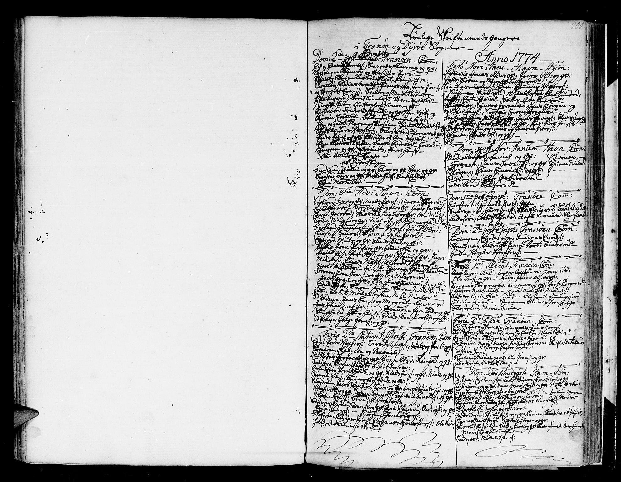 SATØ, Tranøy sokneprestkontor, I/Ia/Iaa/L0002kirke: Ministerialbok nr. 2, 1773-1806, s. 200