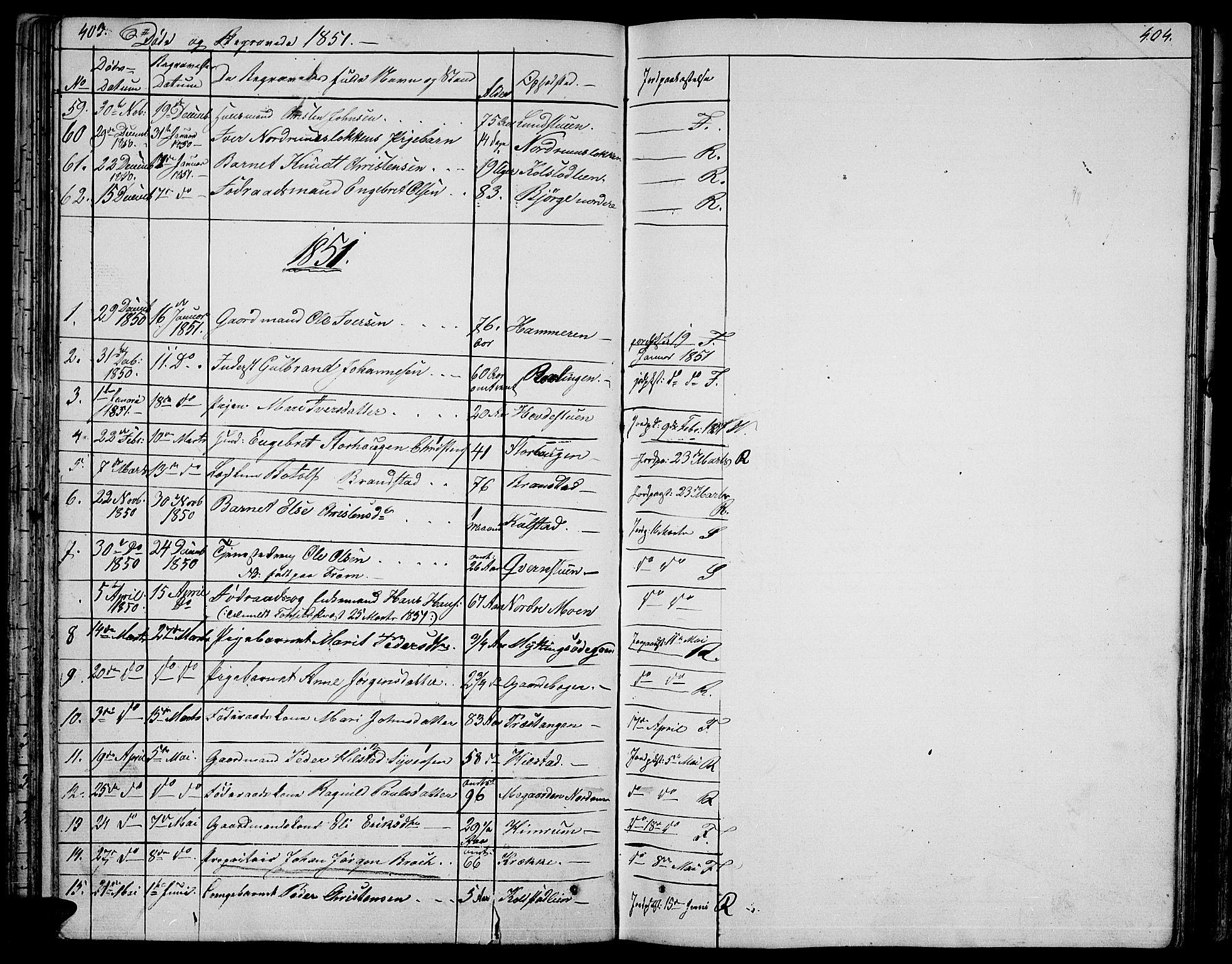SAH, Ringebu prestekontor, Klokkerbok nr. 2, 1839-1853, s. 403-404