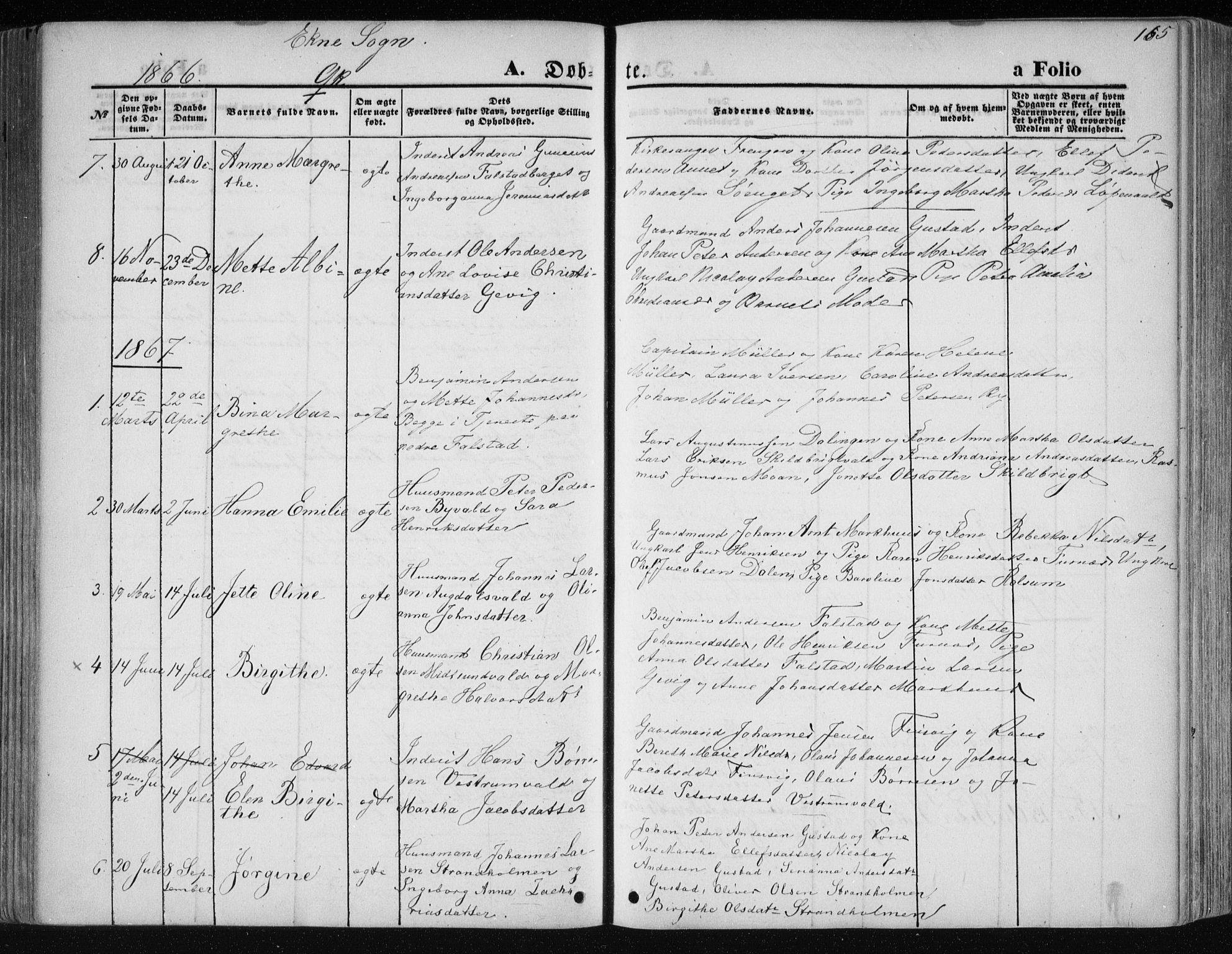 SAT, Ministerialprotokoller, klokkerbøker og fødselsregistre - Nord-Trøndelag, 717/L0158: Ministerialbok nr. 717A08 /2, 1863-1877, s. 165