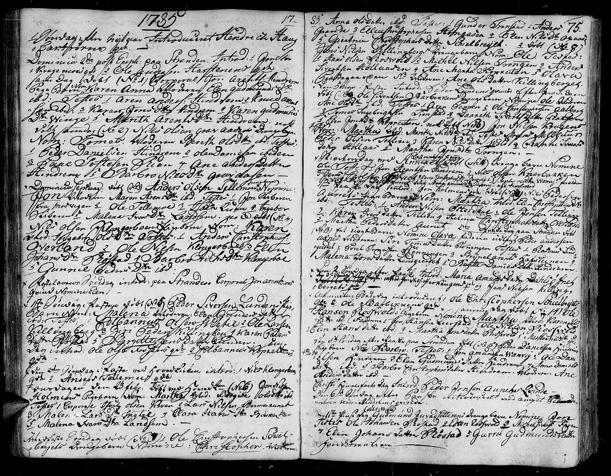 SAT, Ministerialprotokoller, klokkerbøker og fødselsregistre - Nord-Trøndelag, 701/L0004: Ministerialbok nr. 701A04, 1783-1816, s. 75