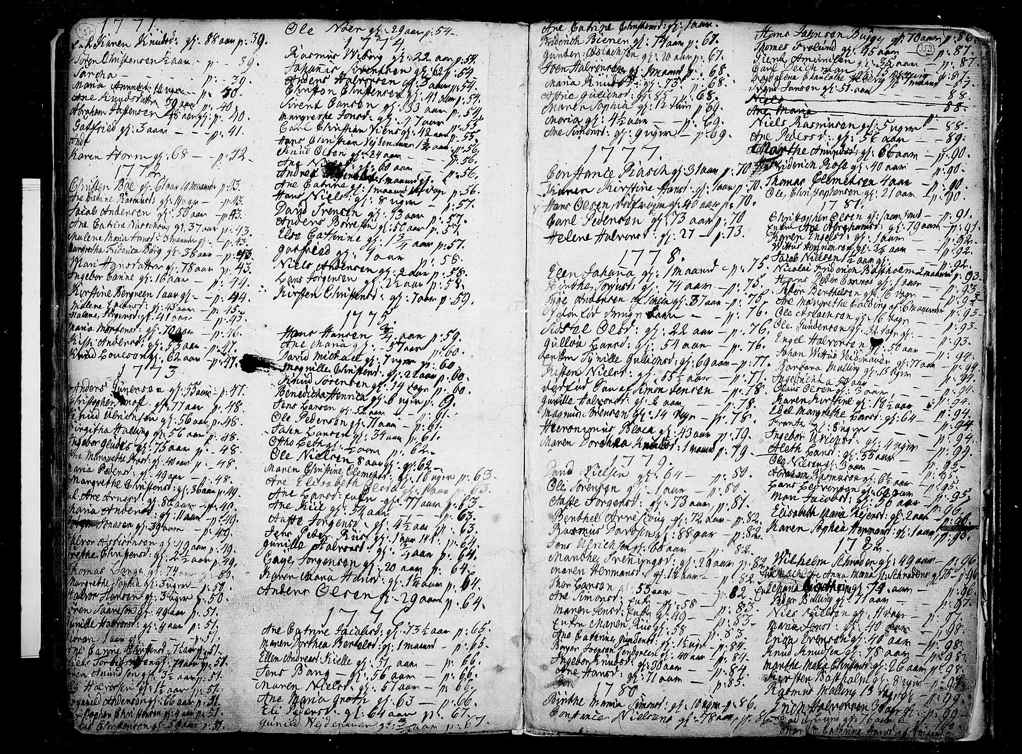 SAKO, Porsgrunn kirkebøker , F/Fa/L0002: Ministerialbok nr. 2, 1764-1814, s. 352-353