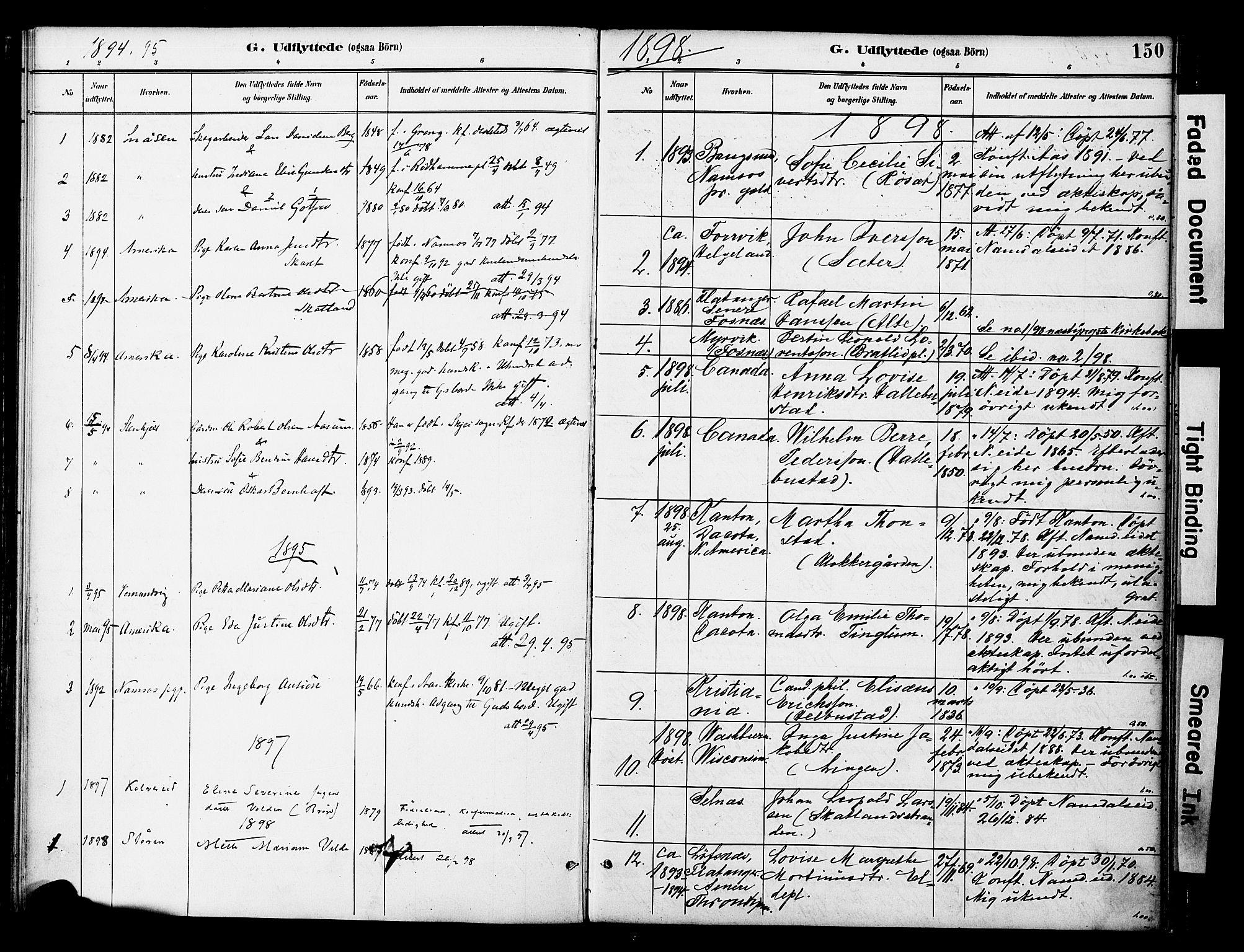 SAT, Ministerialprotokoller, klokkerbøker og fødselsregistre - Nord-Trøndelag, 742/L0409: Ministerialbok nr. 742A02, 1891-1905, s. 150