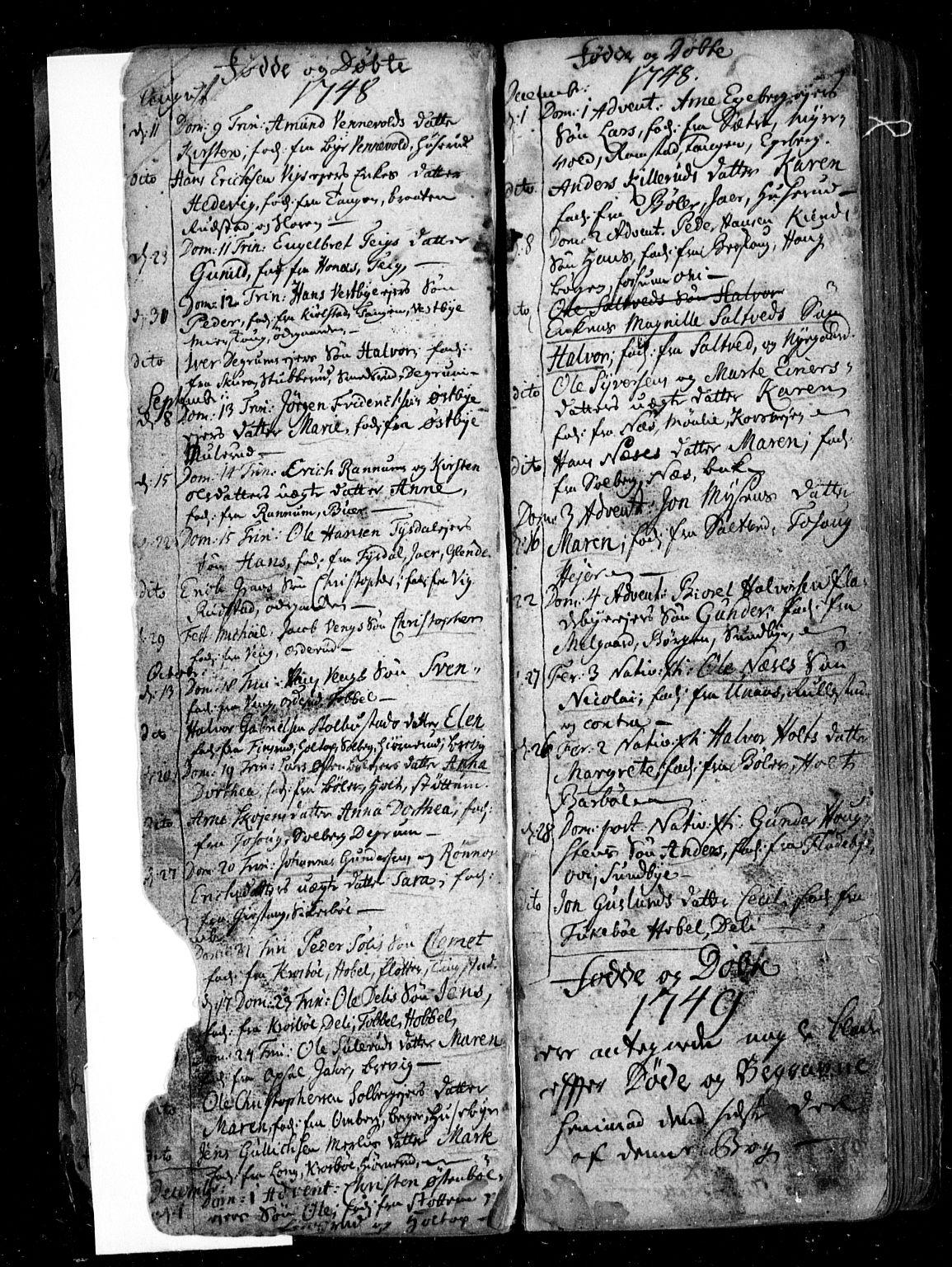 SAO, Enebakk prestekontor Kirkebøker, F/Fa/L0001: Ministerialbok nr. I 1, 1719-1754