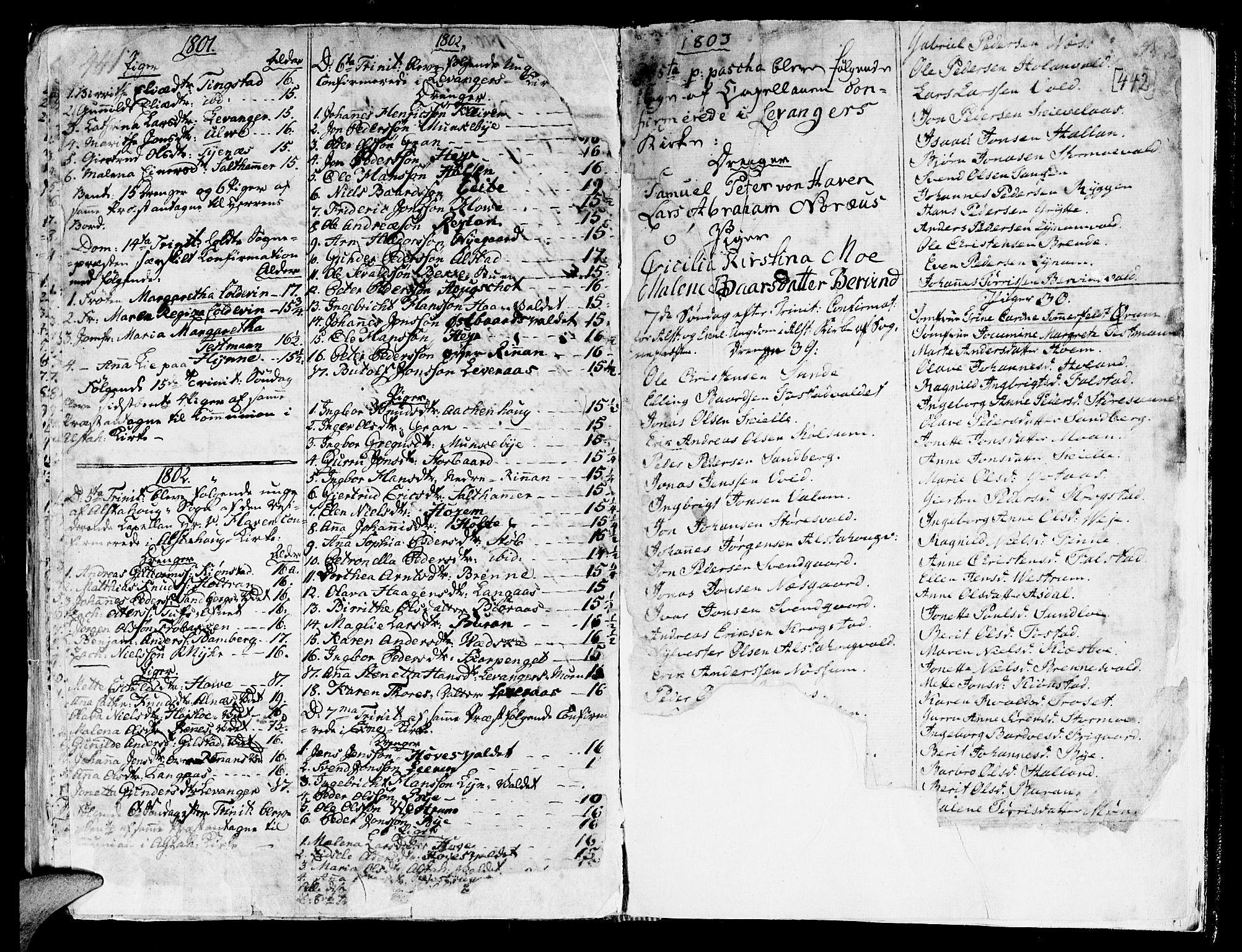 SAT, Ministerialprotokoller, klokkerbøker og fødselsregistre - Nord-Trøndelag, 717/L0141: Ministerialbok nr. 717A01, 1747-1803, s. 441-442