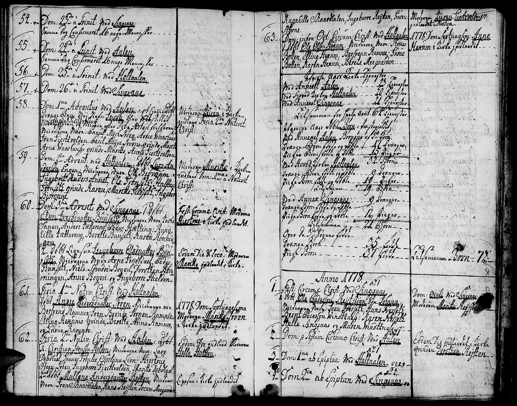 SAT, Ministerialprotokoller, klokkerbøker og fødselsregistre - Sør-Trøndelag, 685/L0952: Ministerialbok nr. 685A01, 1745-1804, s. 87