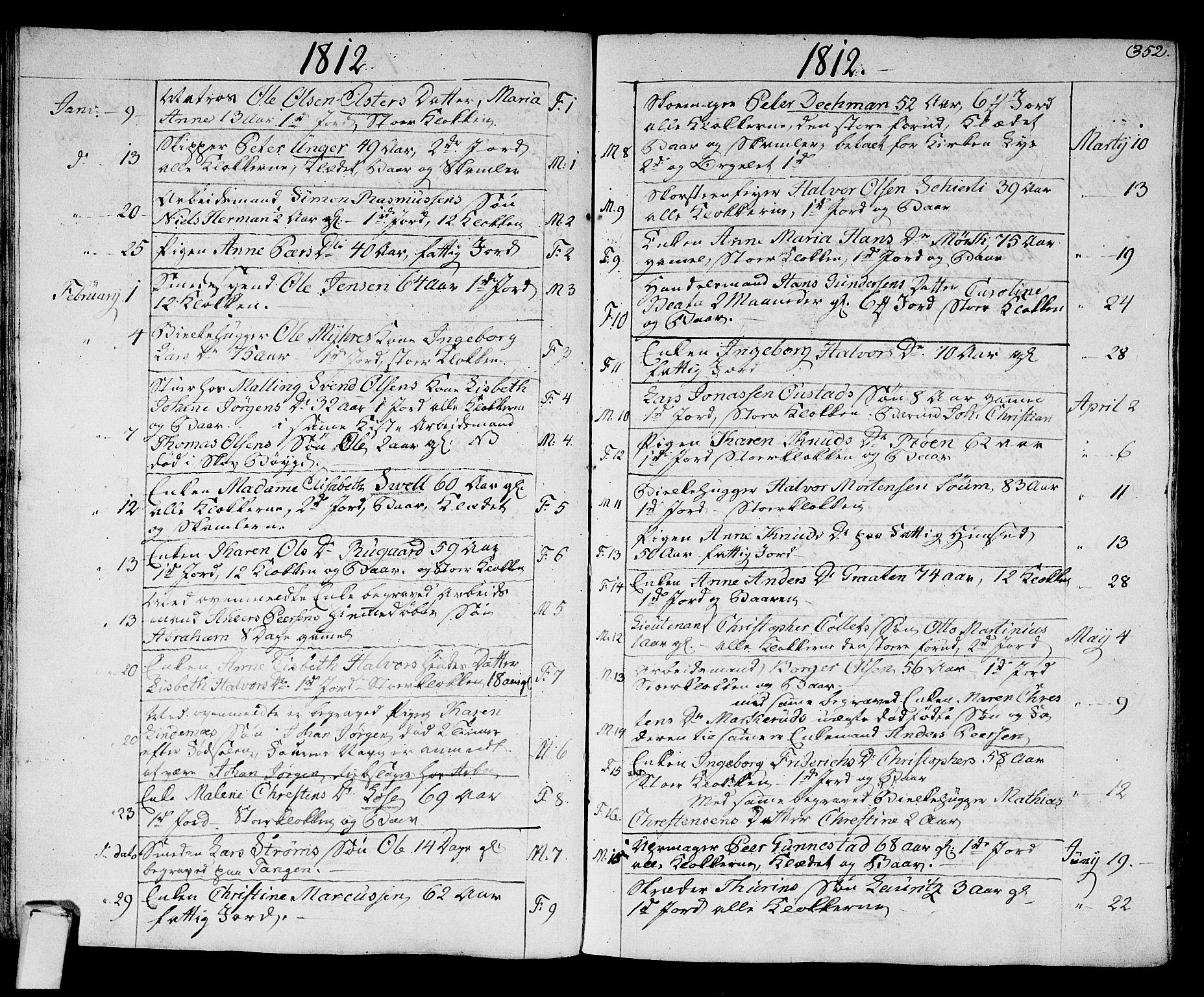 SAKO, Strømsø kirkebøker, F/Fa/L0010: Ministerialbok nr. I 10, 1792-1822, s. 352