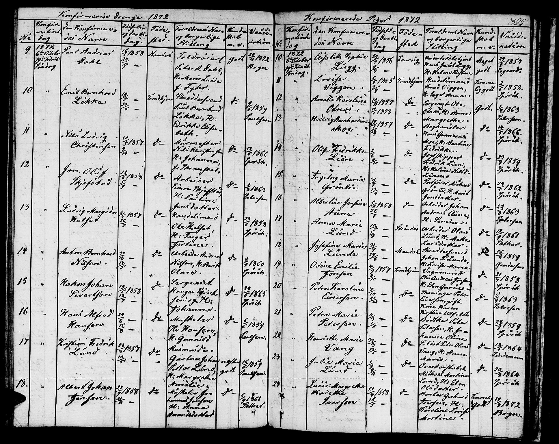 SAT, Ministerialprotokoller, klokkerbøker og fødselsregistre - Sør-Trøndelag, 601/L0070: Residerende kapellans bok nr. 601B03, 1821-1881, s. 322b