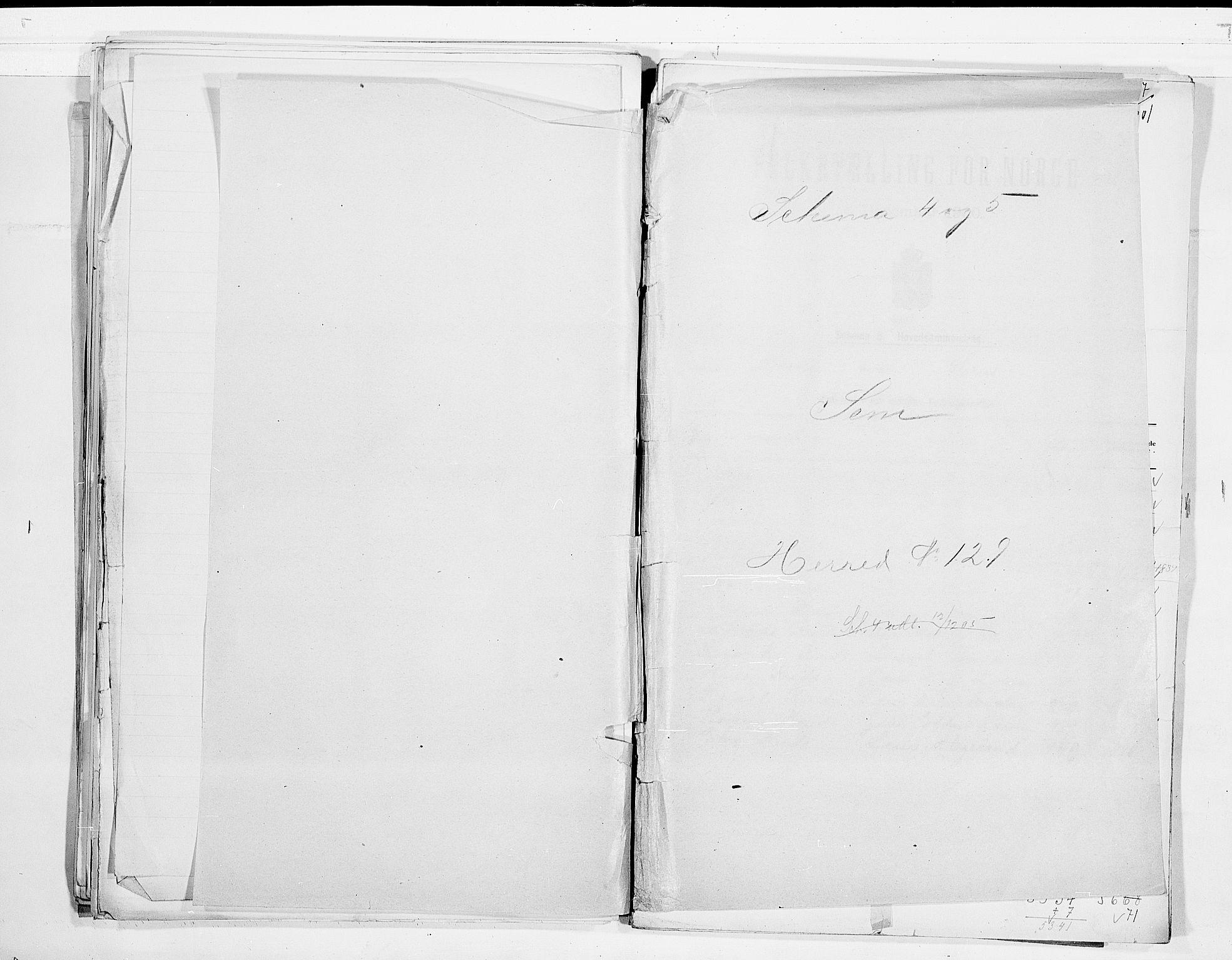 RA, Folketelling 1900 for 0721 Sem herred, 1900, s. 1