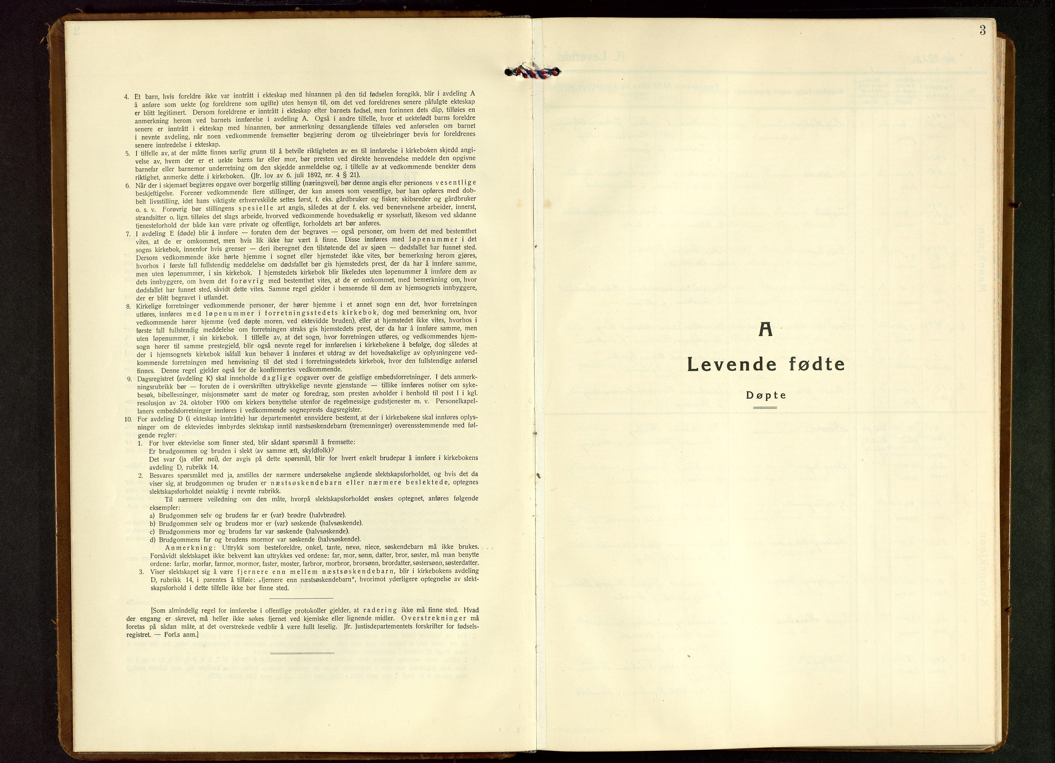 SAST, Strand sokneprestkontor, H/Ha/Hab/L0006: Klokkerbok nr. B 6, 1933-1950, s. 3