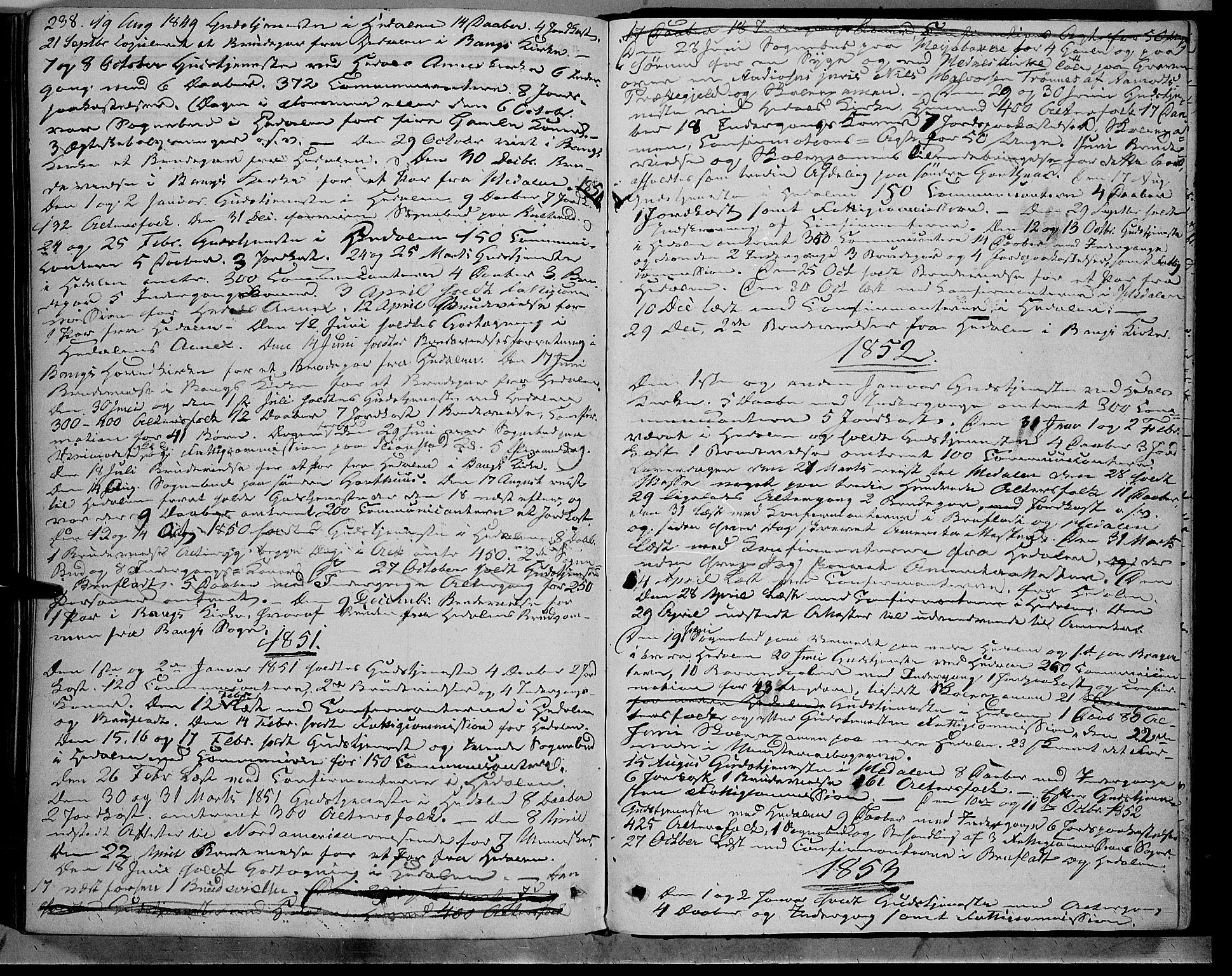 SAH, Sør-Aurdal prestekontor, Ministerialbok nr. 7, 1849-1876, s. 238