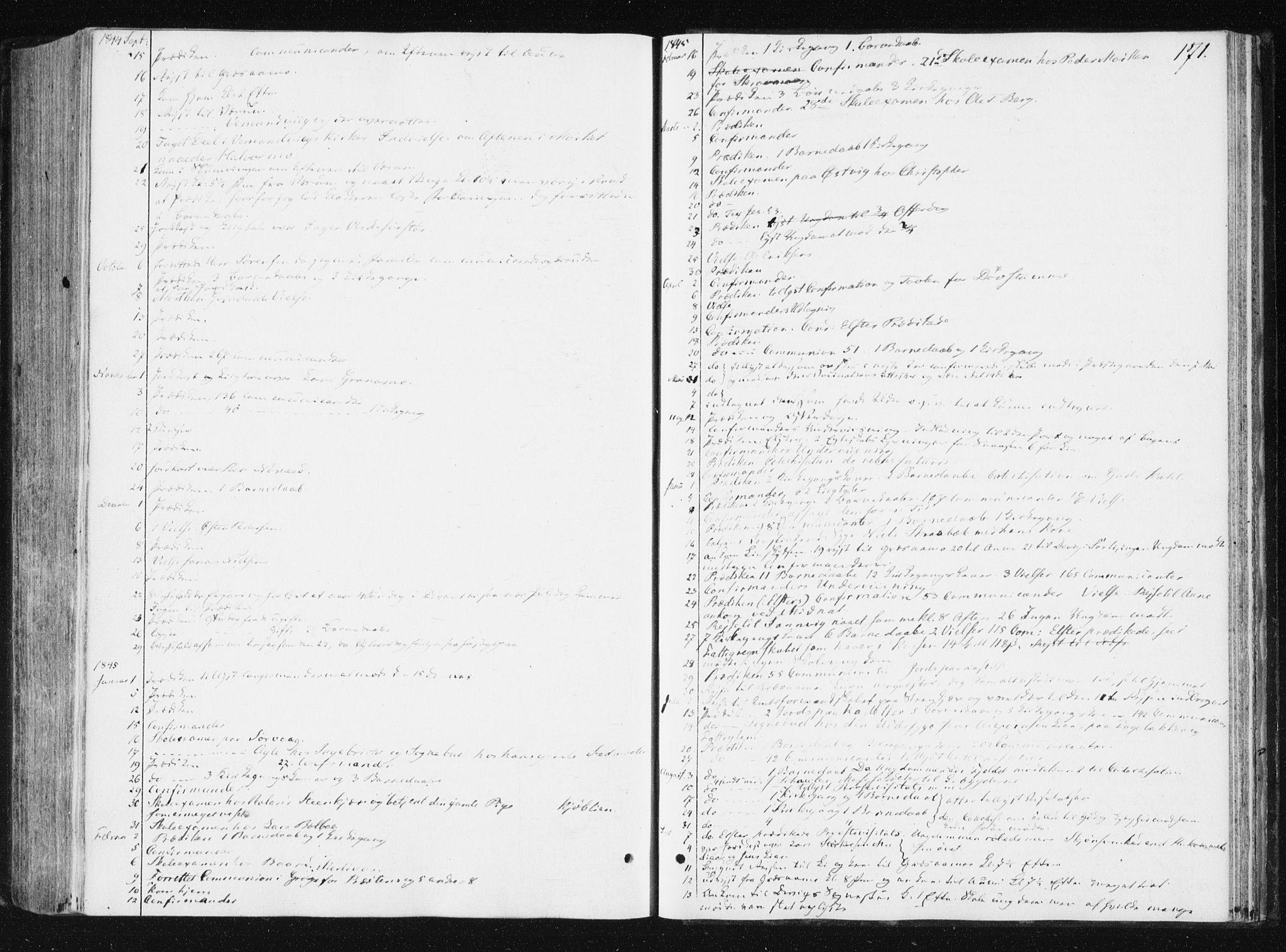 SAT, Ministerialprotokoller, klokkerbøker og fødselsregistre - Nord-Trøndelag, 749/L0470: Ministerialbok nr. 749A04, 1834-1853, s. 171