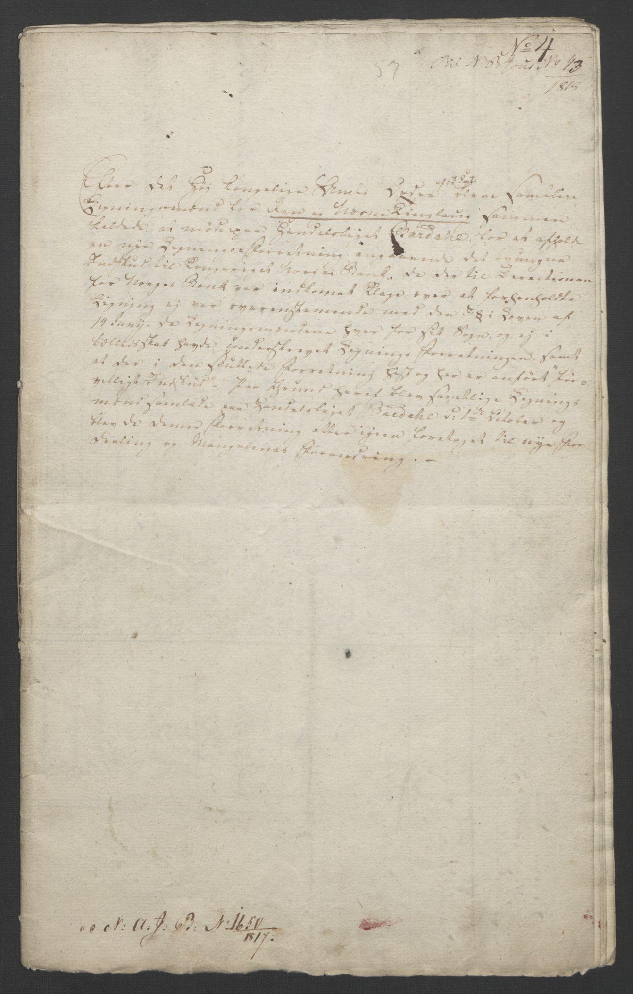 NOBA, Norges Bank/Sølvskatten 1816*, 1816-1823, s. 57