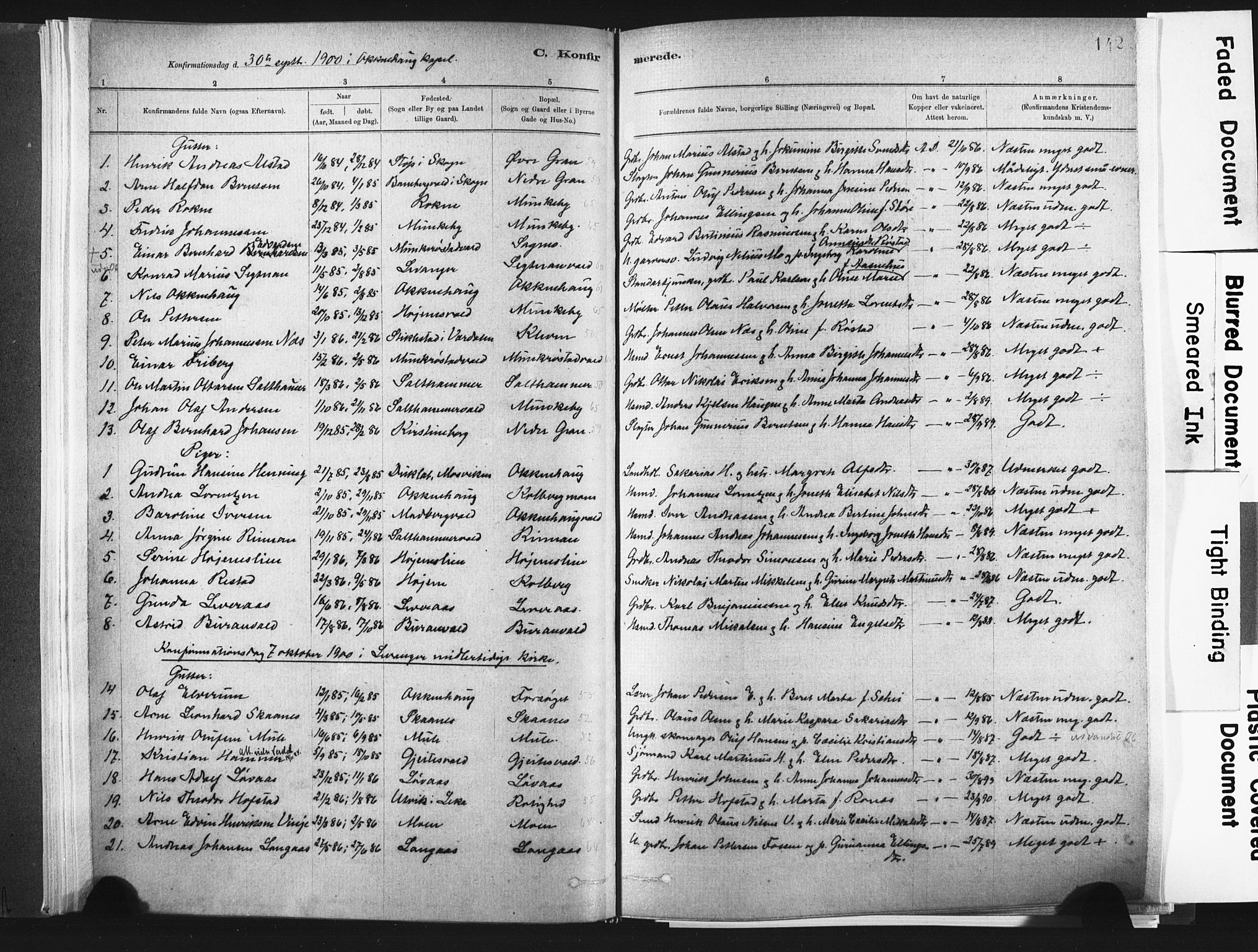 SAT, Ministerialprotokoller, klokkerbøker og fødselsregistre - Nord-Trøndelag, 721/L0207: Ministerialbok nr. 721A02, 1880-1911, s. 142