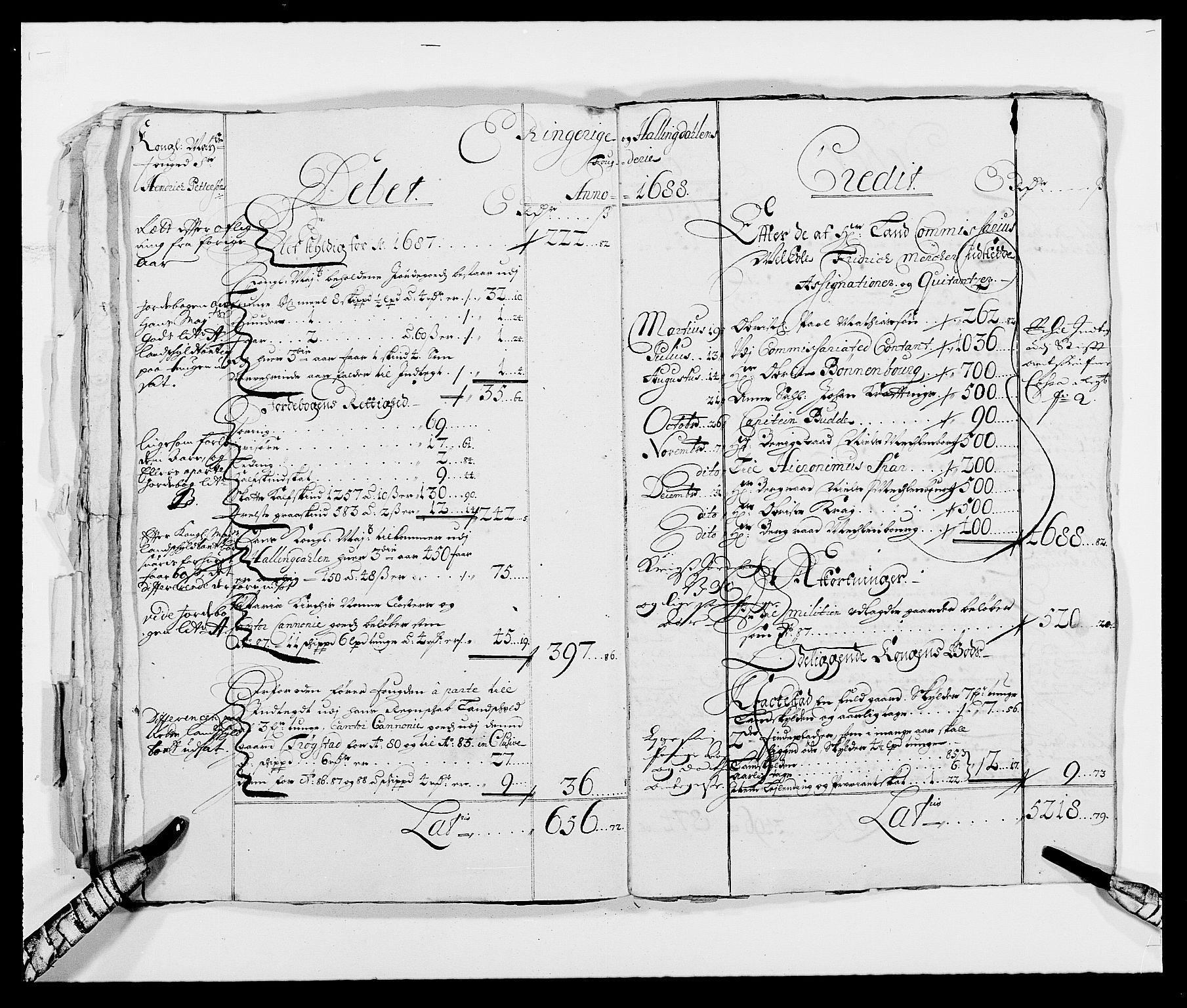 RA, Rentekammeret inntil 1814, Reviderte regnskaper, Fogderegnskap, R21/L1445: Fogderegnskap Ringerike og Hallingdal, 1681-1689, s. 26