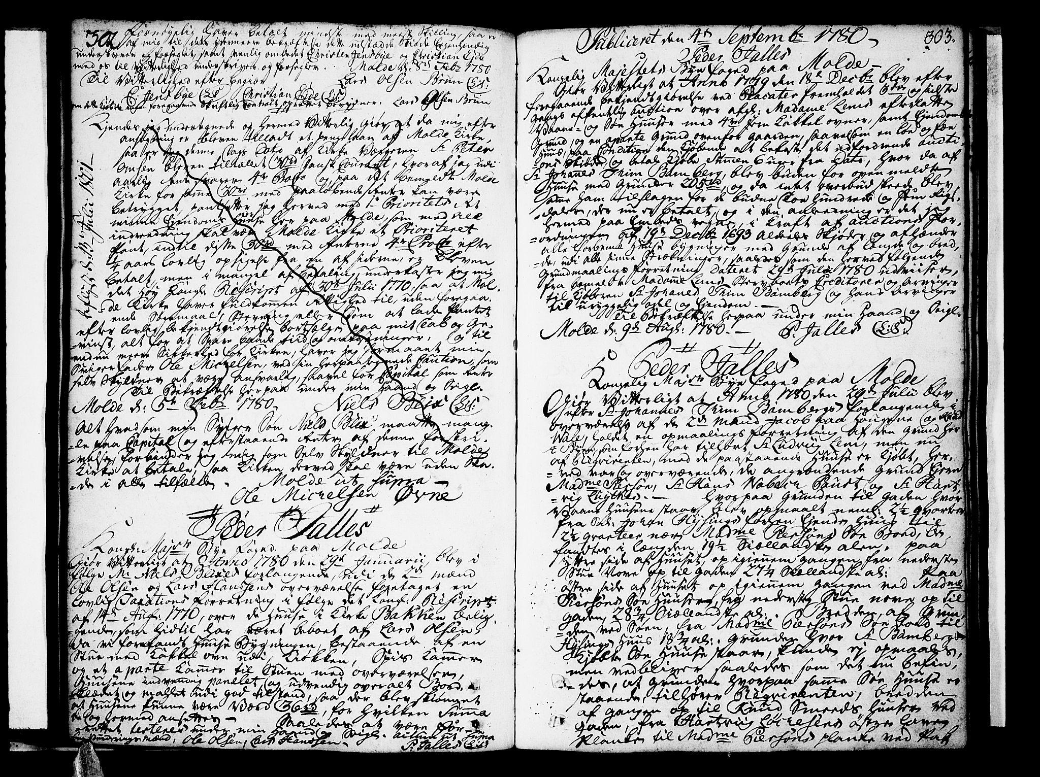 SAT, Molde byfogd, 2/2C/L0001: Pantebok nr. 1, 1748-1823, s. 302-303
