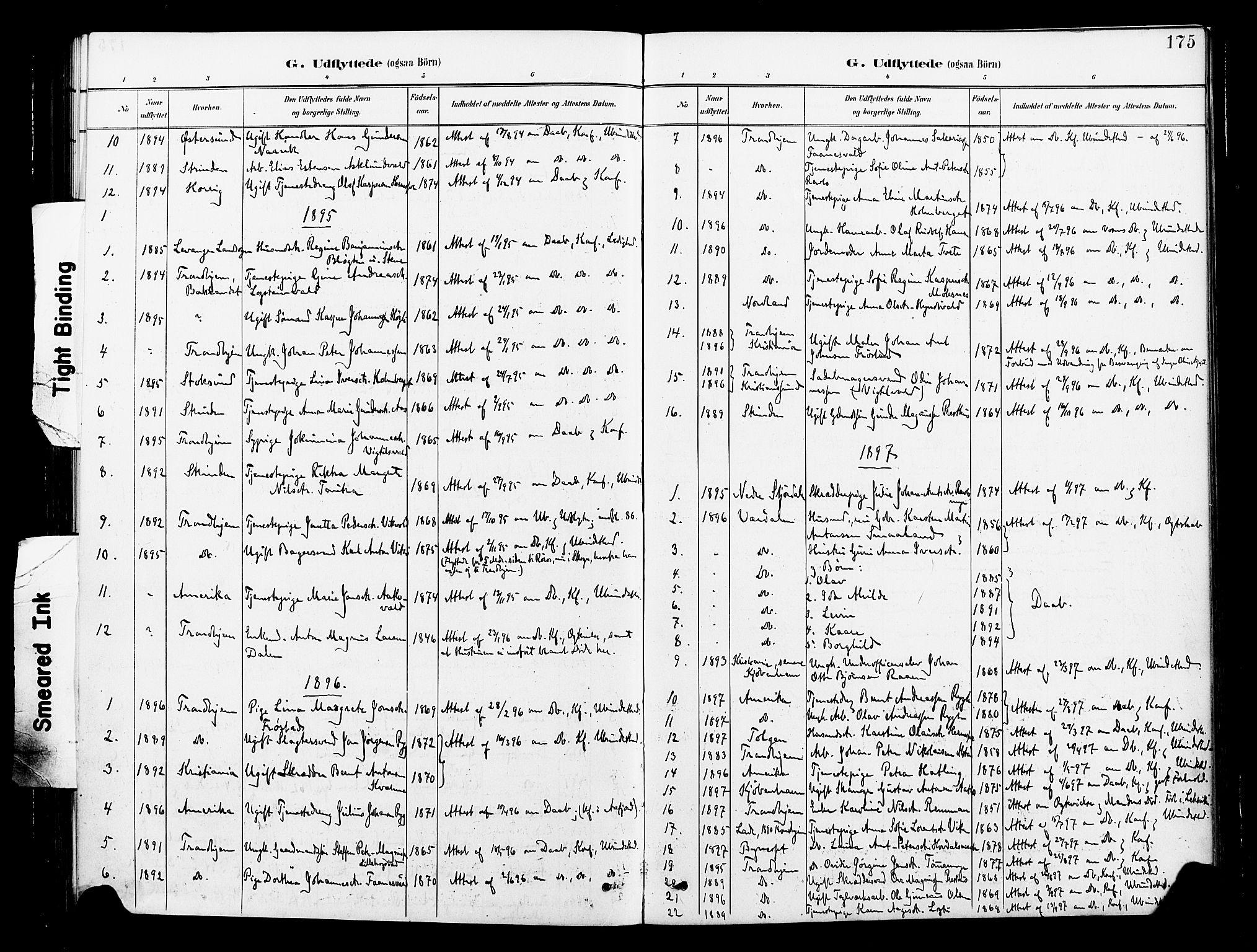 SAT, Ministerialprotokoller, klokkerbøker og fødselsregistre - Nord-Trøndelag, 713/L0121: Ministerialbok nr. 713A10, 1888-1898, s. 175
