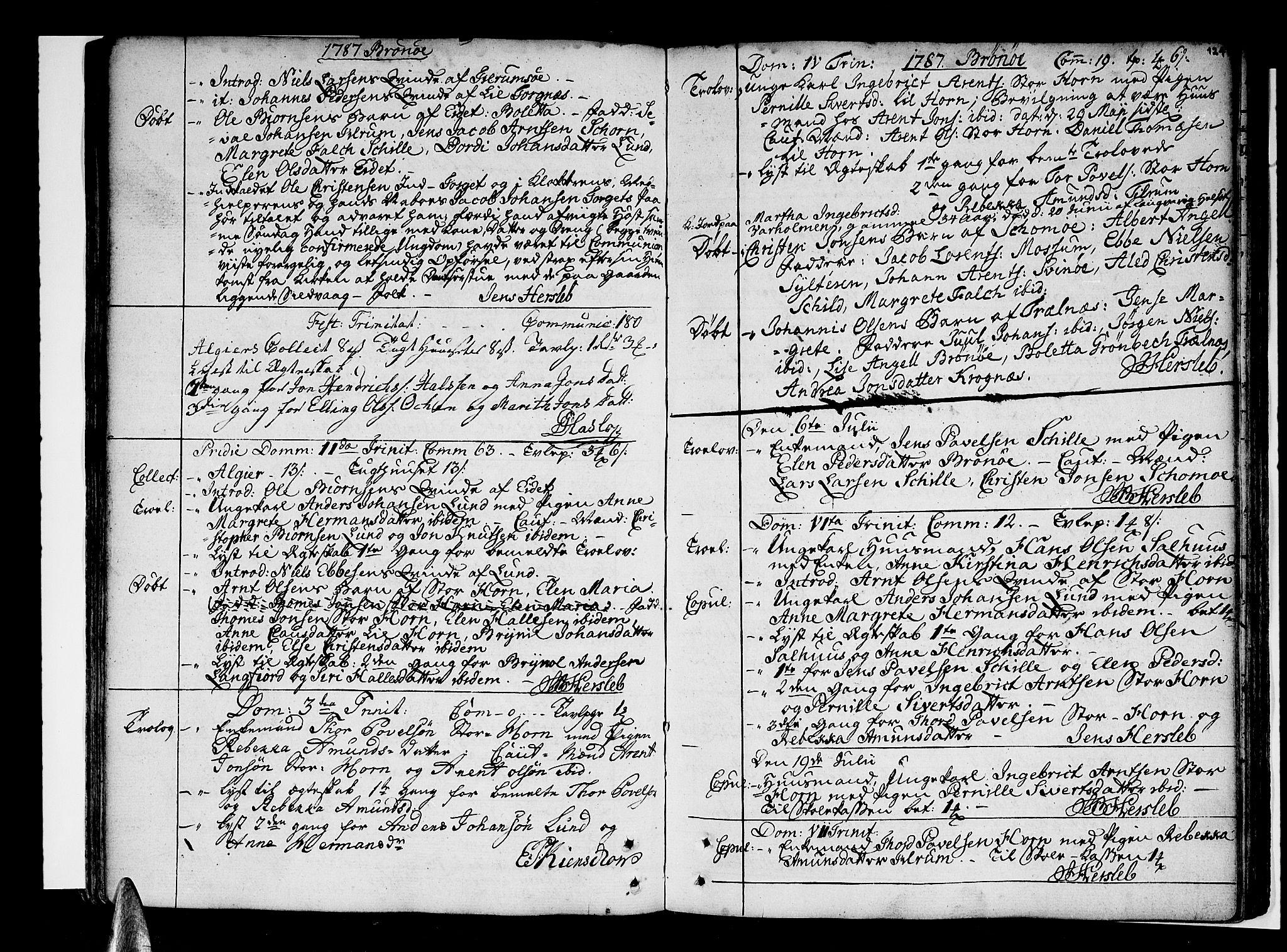 SAT, Ministerialprotokoller, klokkerbøker og fødselsregistre - Nordland, 813/L0195: Ministerialbok nr. 813A05, 1752-1803, s. 124