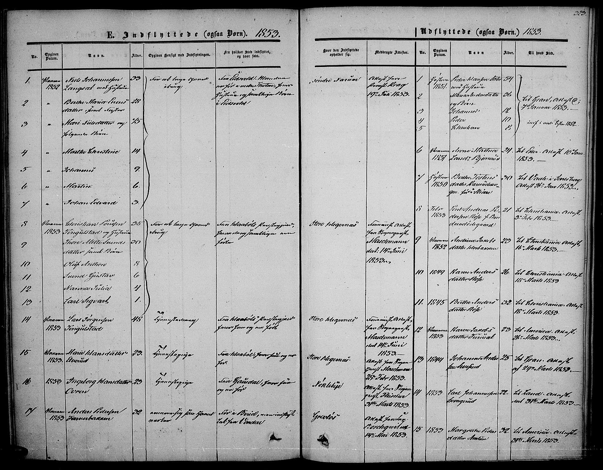SAH, Vestre Toten prestekontor, Ministerialbok nr. 5, 1850-1855, s. 323
