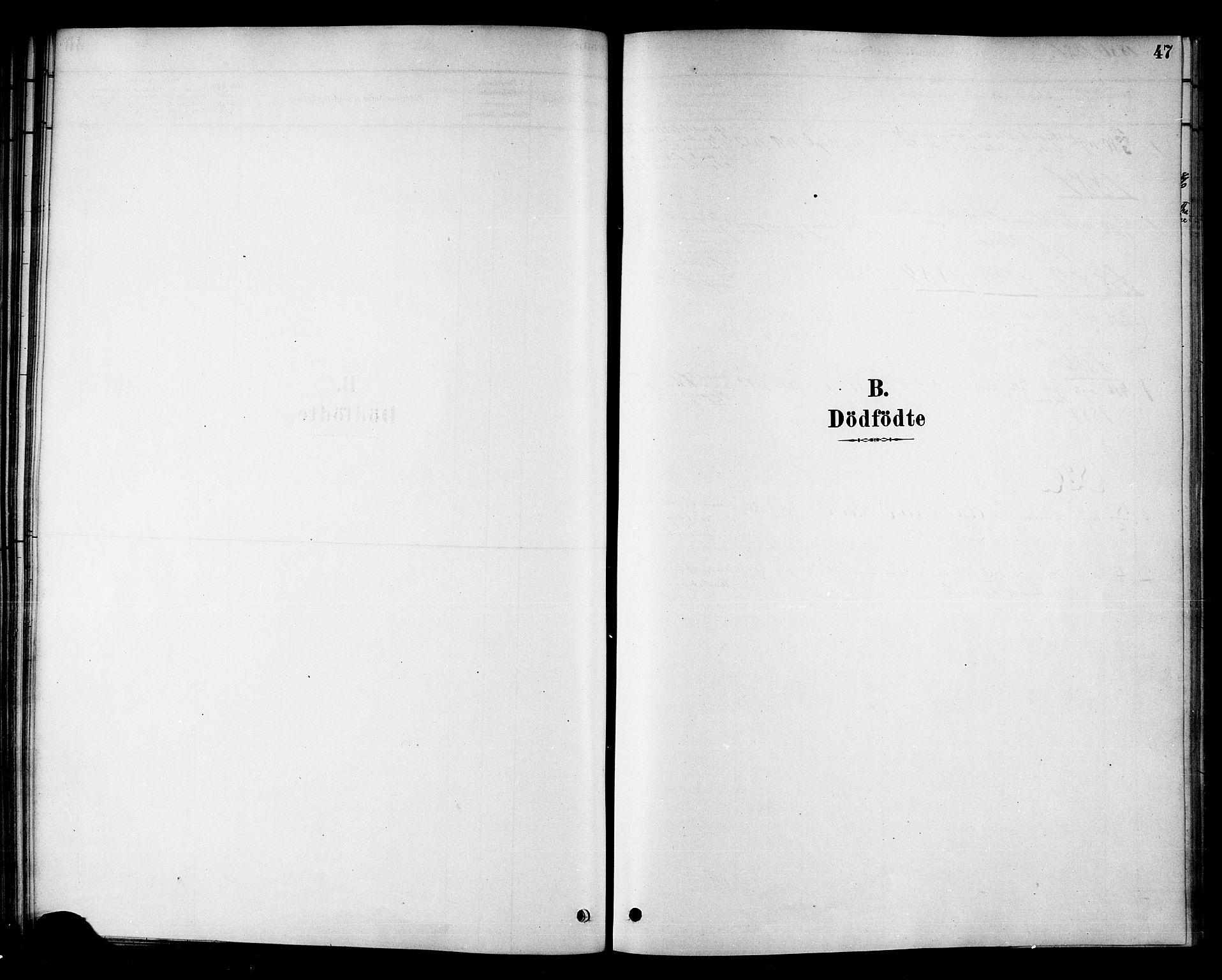 SAT, Ministerialprotokoller, klokkerbøker og fødselsregistre - Nord-Trøndelag, 742/L0408: Ministerialbok nr. 742A01, 1878-1890, s. 47