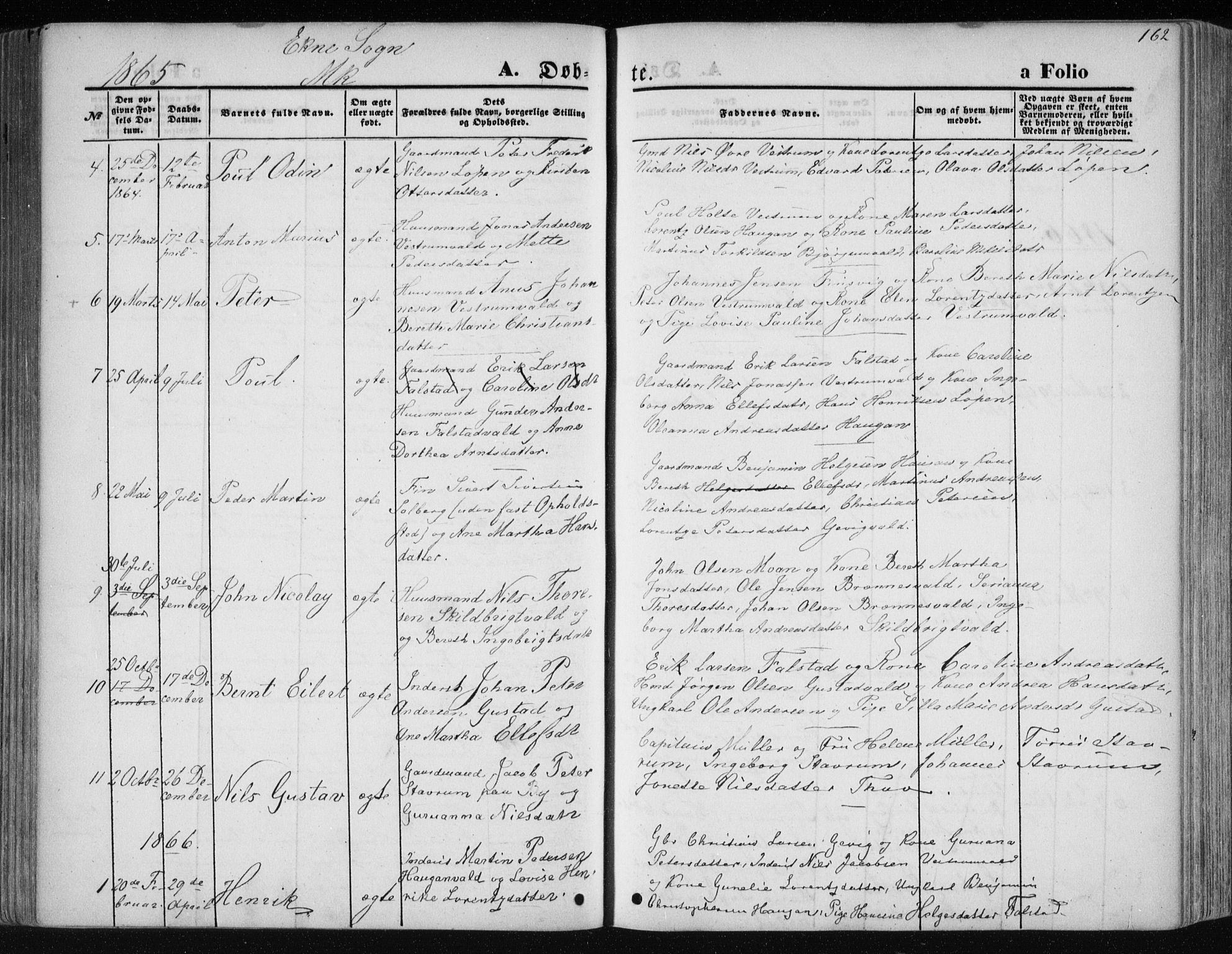 SAT, Ministerialprotokoller, klokkerbøker og fødselsregistre - Nord-Trøndelag, 717/L0158: Ministerialbok nr. 717A08 /2, 1863-1877, s. 162