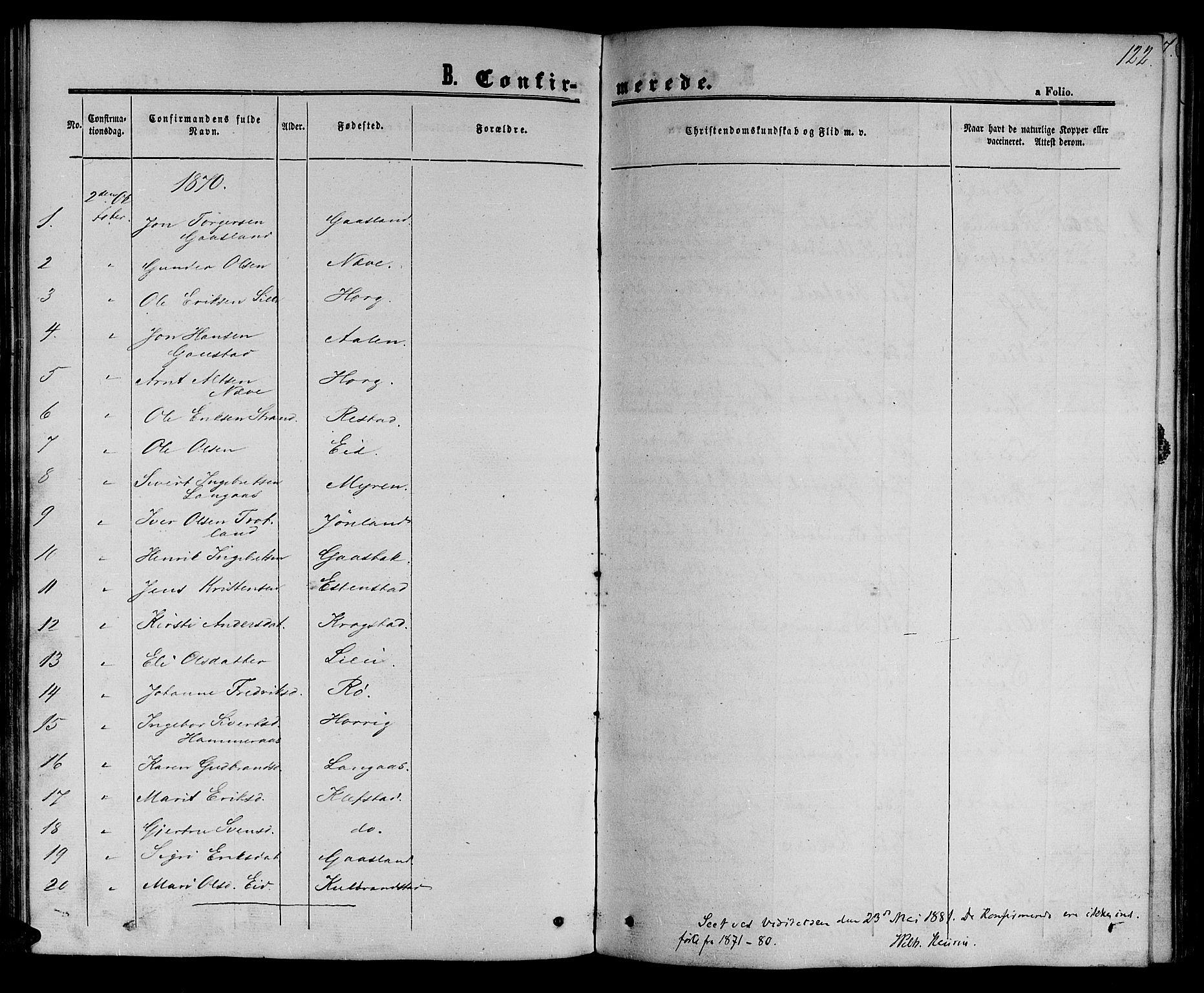 SAT, Ministerialprotokoller, klokkerbøker og fødselsregistre - Sør-Trøndelag, 694/L1131: Klokkerbok nr. 694C03, 1858-1886, s. 122