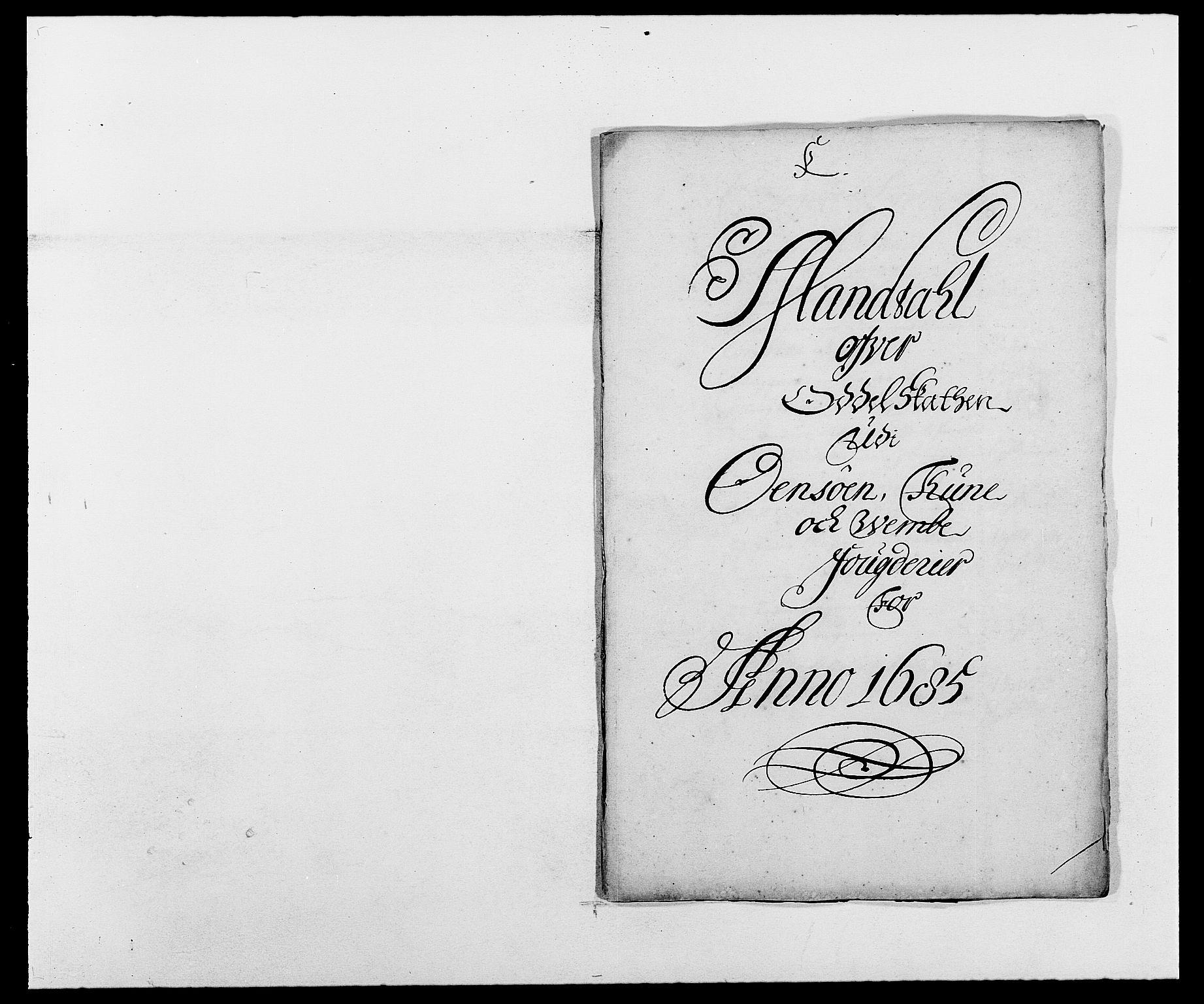 RA, Rentekammeret inntil 1814, Reviderte regnskaper, Fogderegnskap, R03/L0116: Fogderegnskap Onsøy, Tune, Veme og Åbygge fogderi, 1684-1689, s. 105