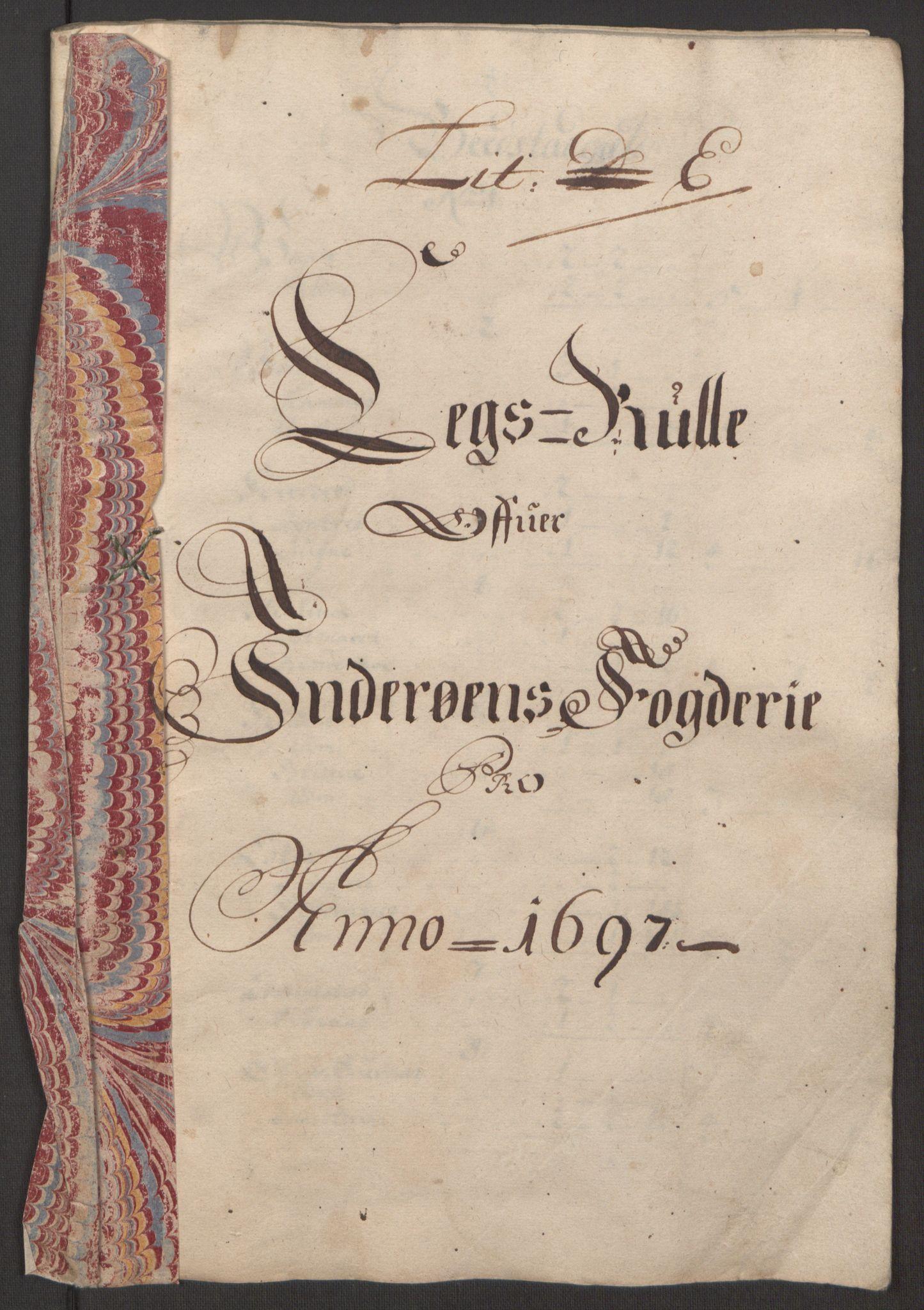 RA, Rentekammeret inntil 1814, Reviderte regnskaper, Fogderegnskap, R63/L4309: Fogderegnskap Inderøy, 1695-1697, s. 415