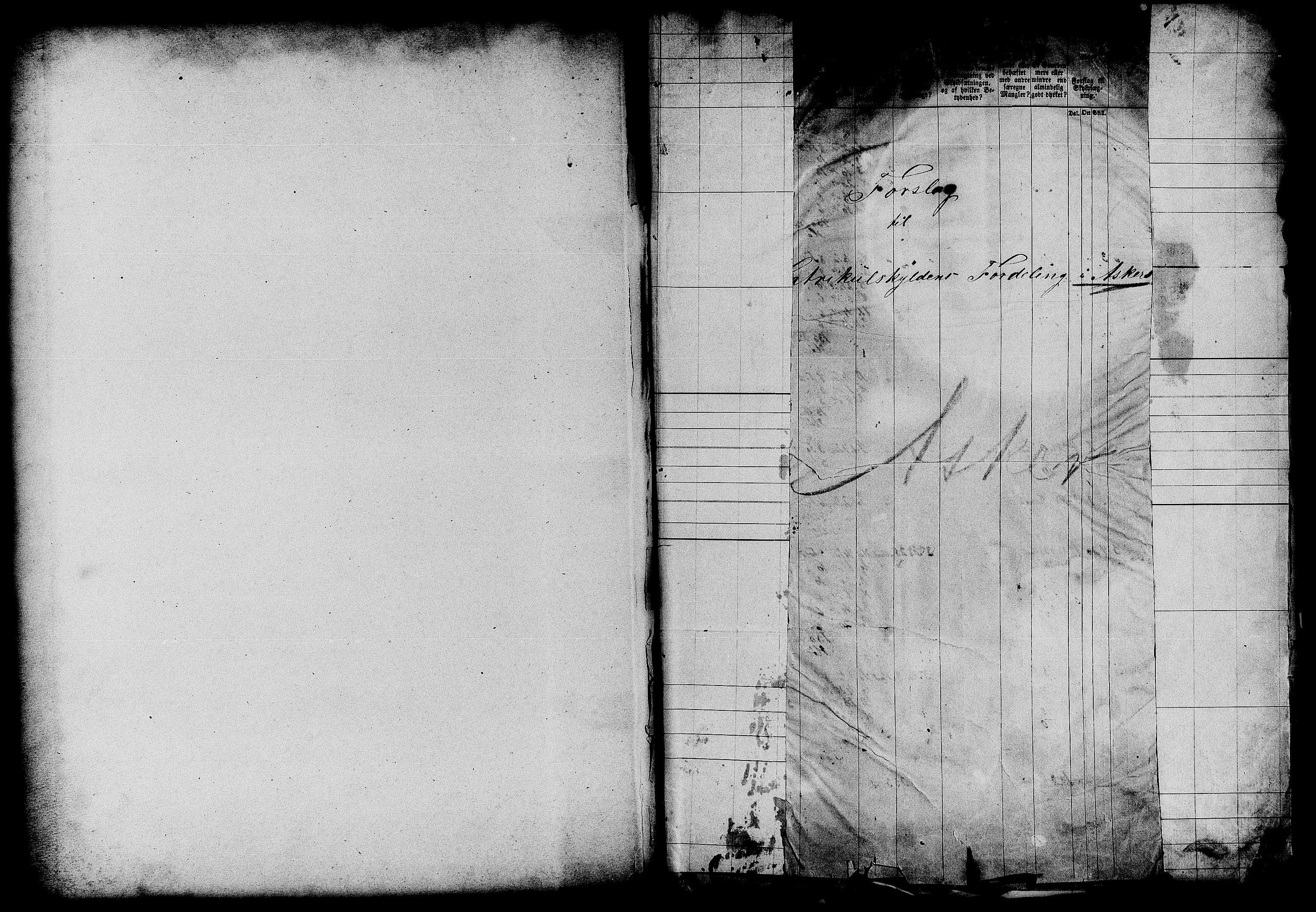 RA, Matrikkelrevisjonen av 1863, F/Fe/L0030: Asker, 1863