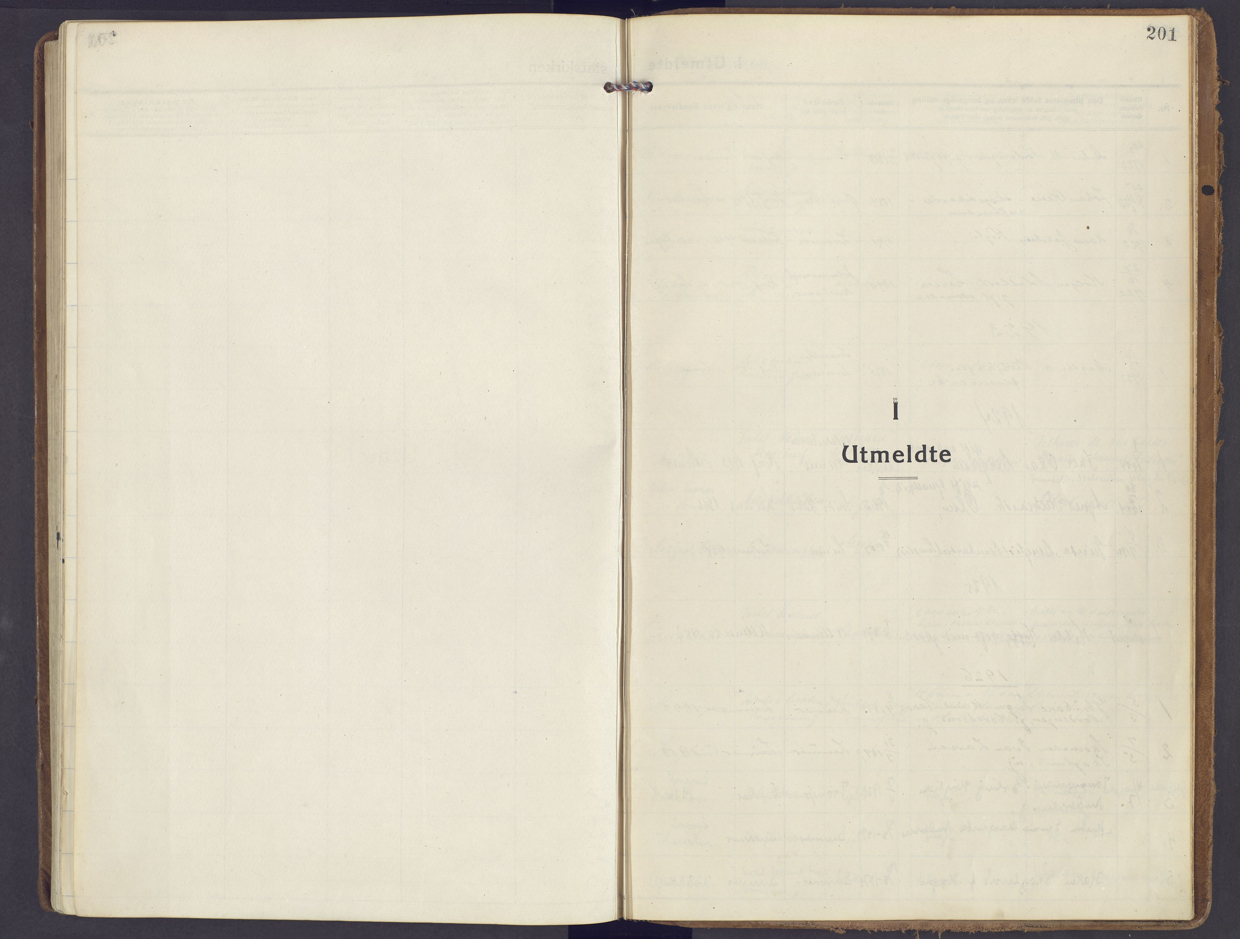 SAH, Lunner prestekontor, H/Ha/Haa/L0002: Ministerialbok nr. 2, 1922-1931, s. 201