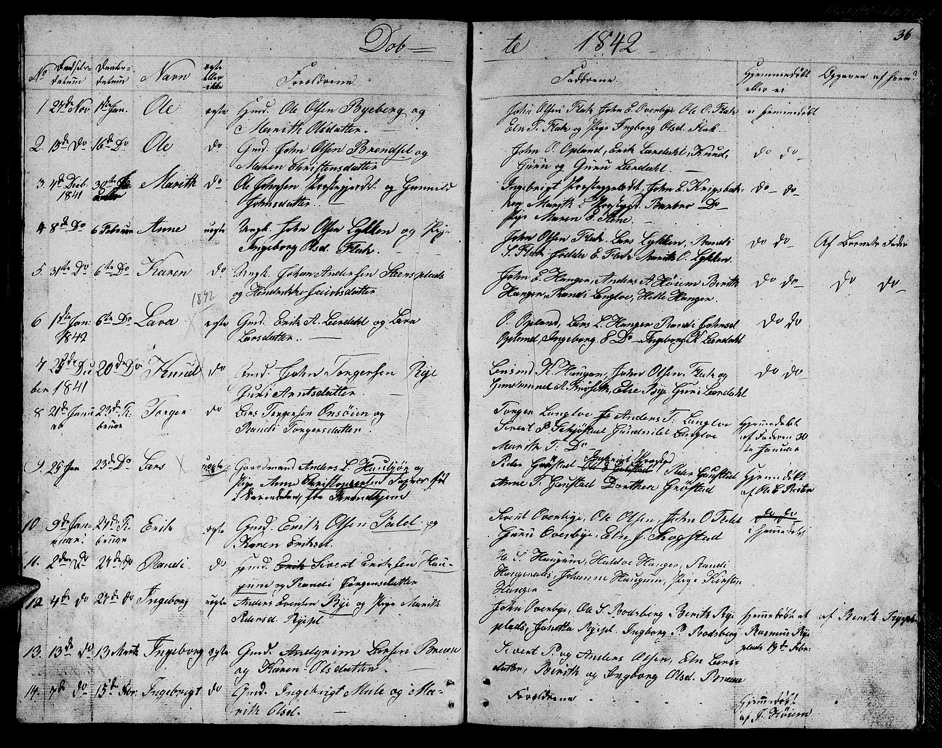 SAT, Ministerialprotokoller, klokkerbøker og fødselsregistre - Sør-Trøndelag, 612/L0386: Klokkerbok nr. 612C02, 1834-1845, s. 36