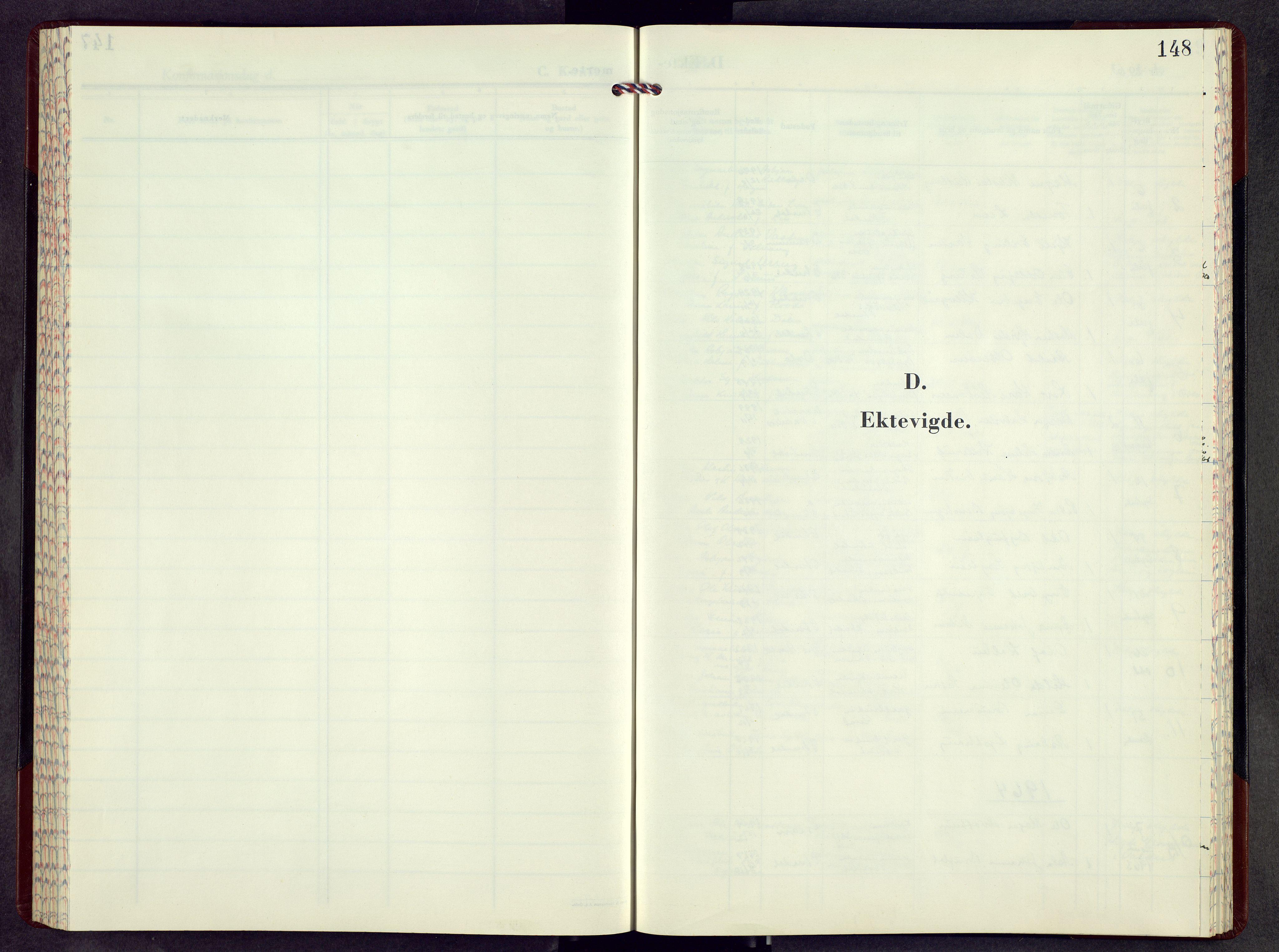 SAH, Etnedal prestekontor, H/Ha/Hab/Haba/L0001: Klokkerbok nr. I 1, 1963-1983, s. 148