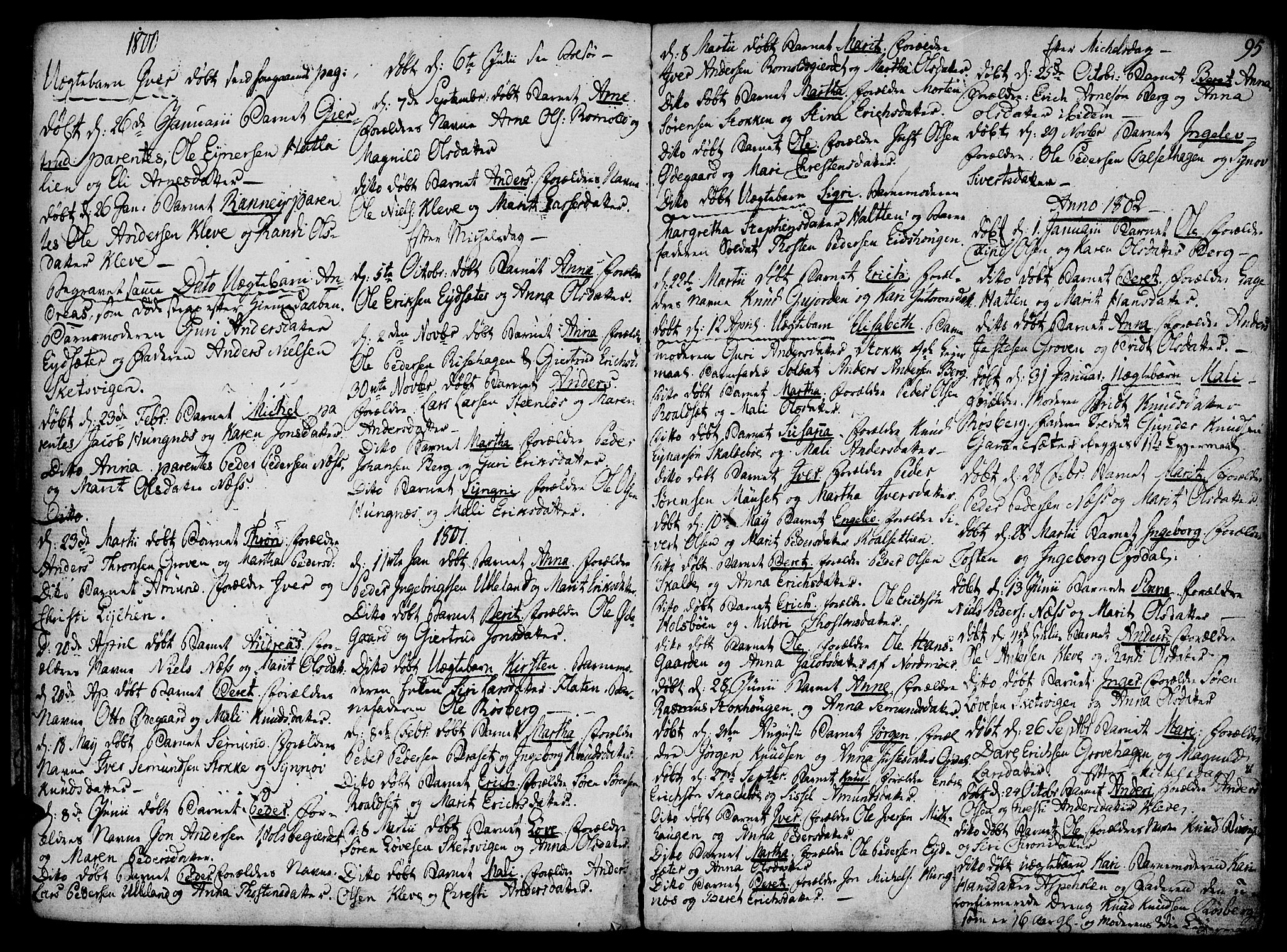 SAT, Ministerialprotokoller, klokkerbøker og fødselsregistre - Møre og Romsdal, 555/L0650: Ministerialbok nr. 555A02 /2, 1798-1821, s. 95
